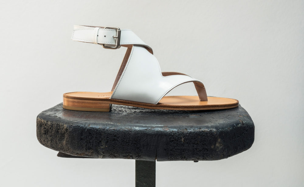 Dorotea sandalia plana Martina blanco ss18
