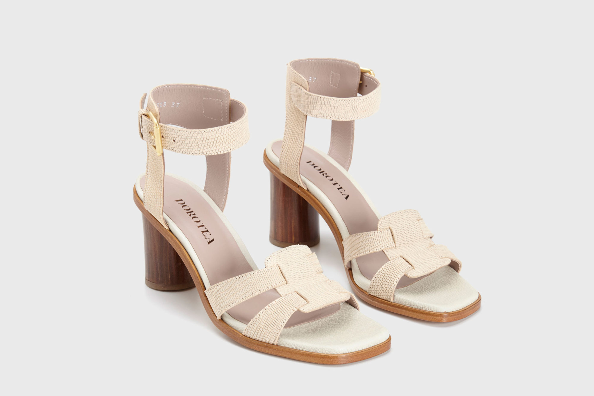 Dorotea sandalia de tacón alto Lianne nude ss17 par