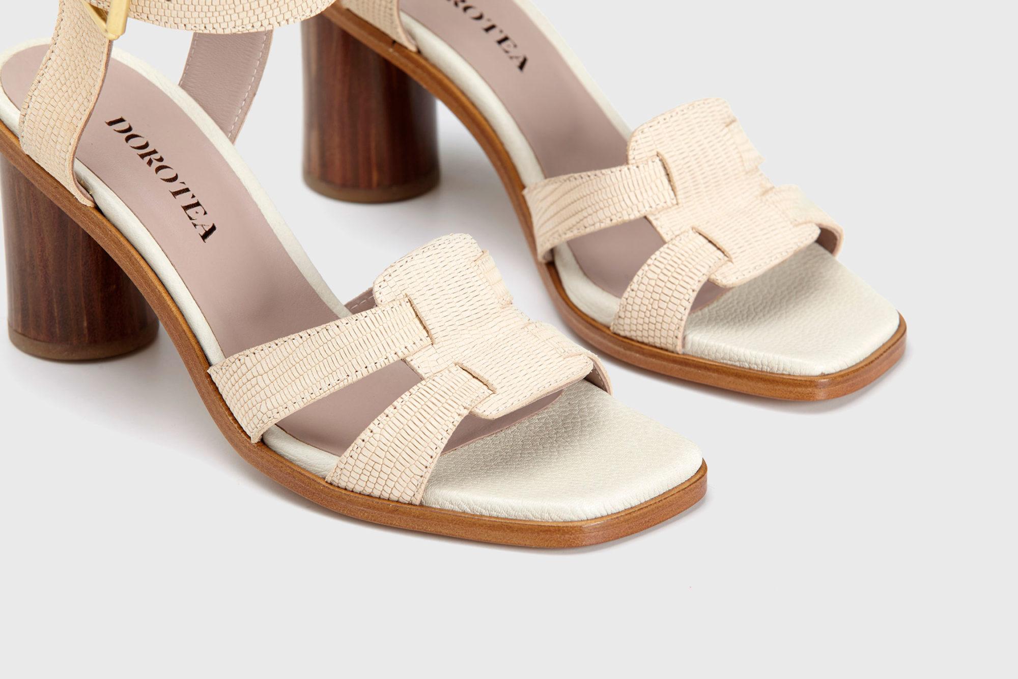 Dorotea sandalia de tacón alto Lianne nude ss17 detalle