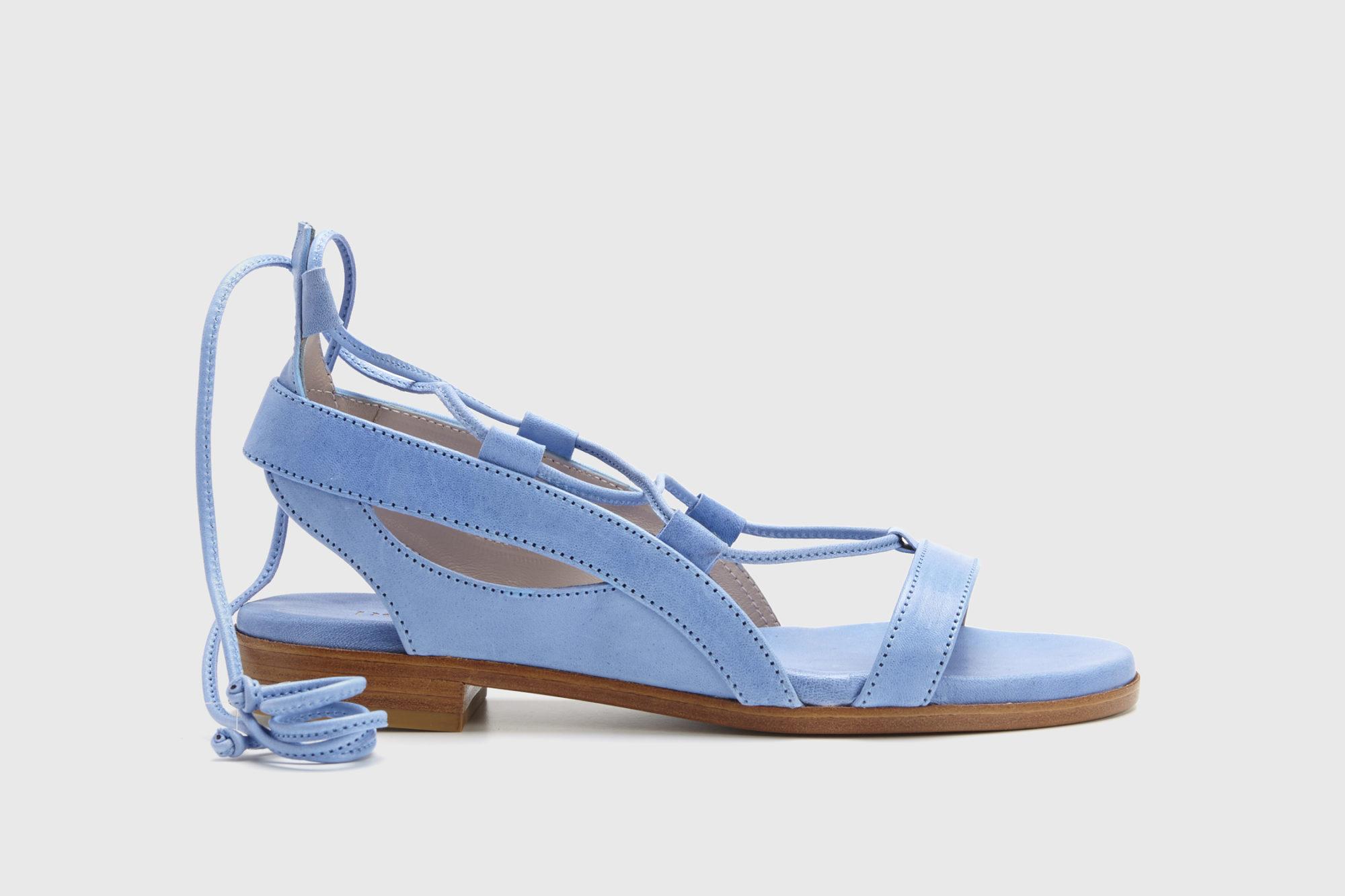 Dorotea sandalia plana Alia azul ss17 perfil