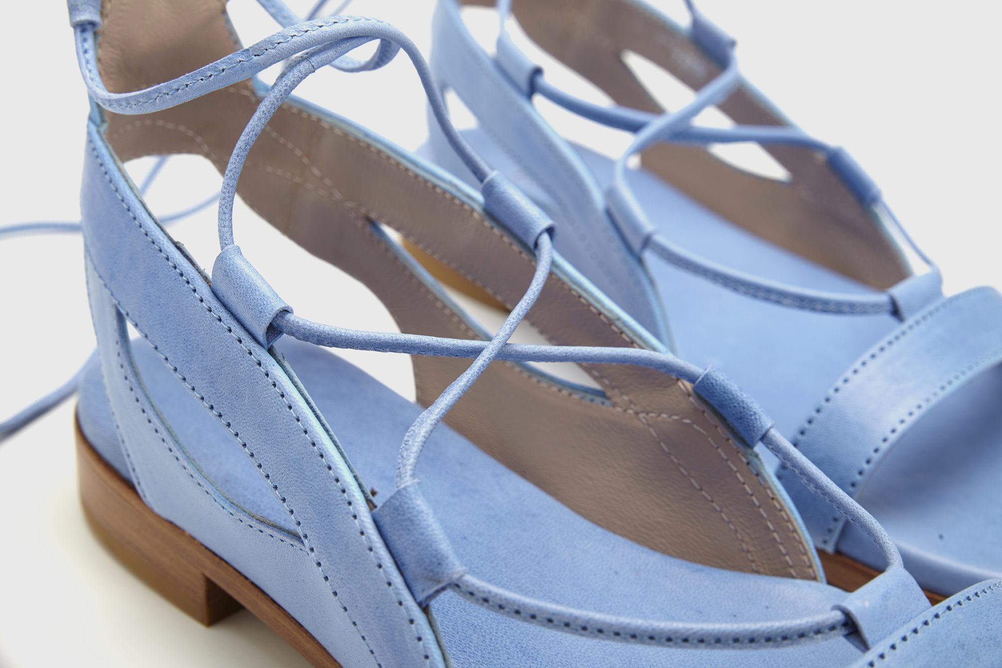 Dorotea sandalia plana Alia azul ss17 detalle