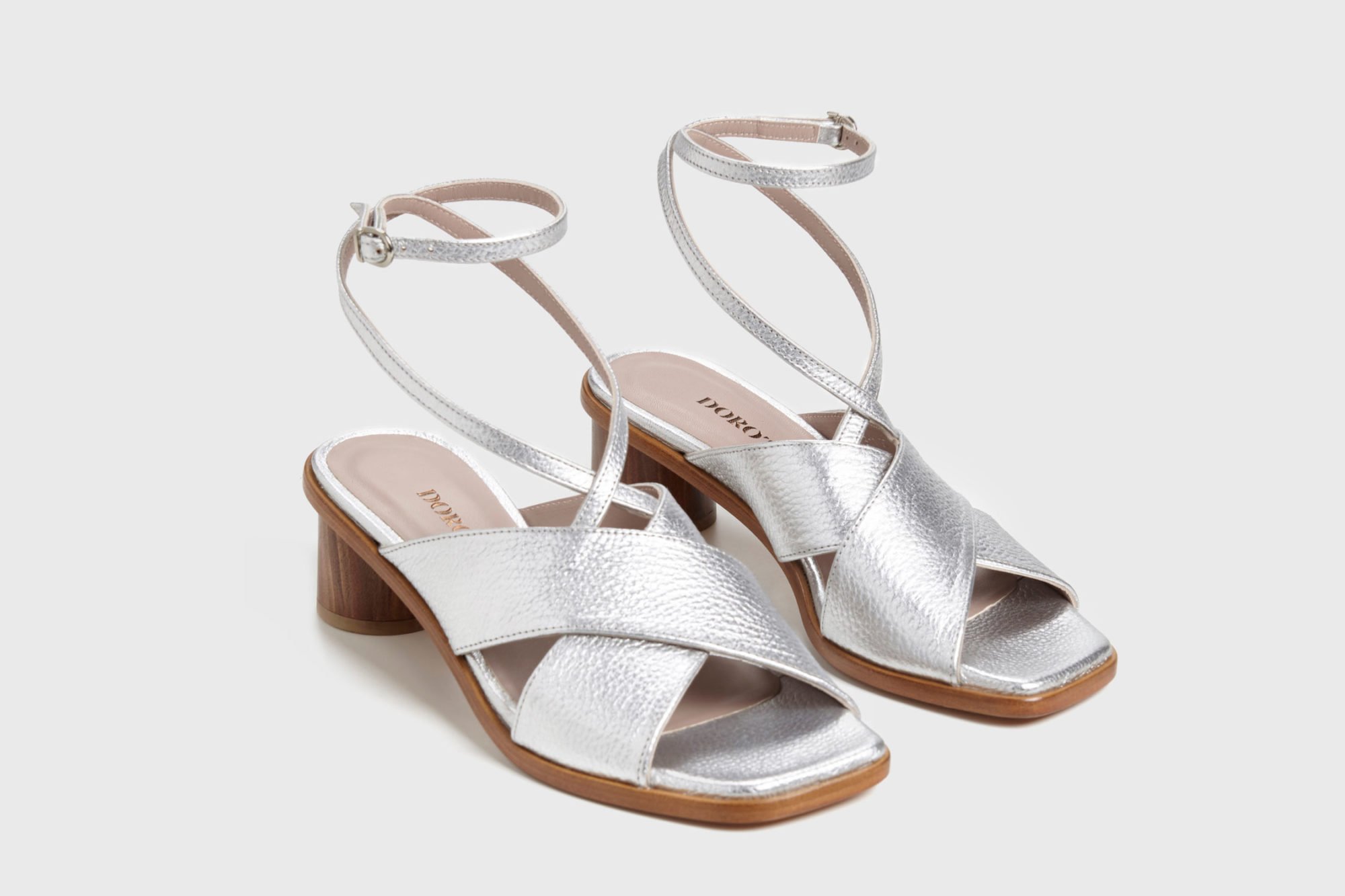 Sandalia de tacón medio Daphne ss17 par