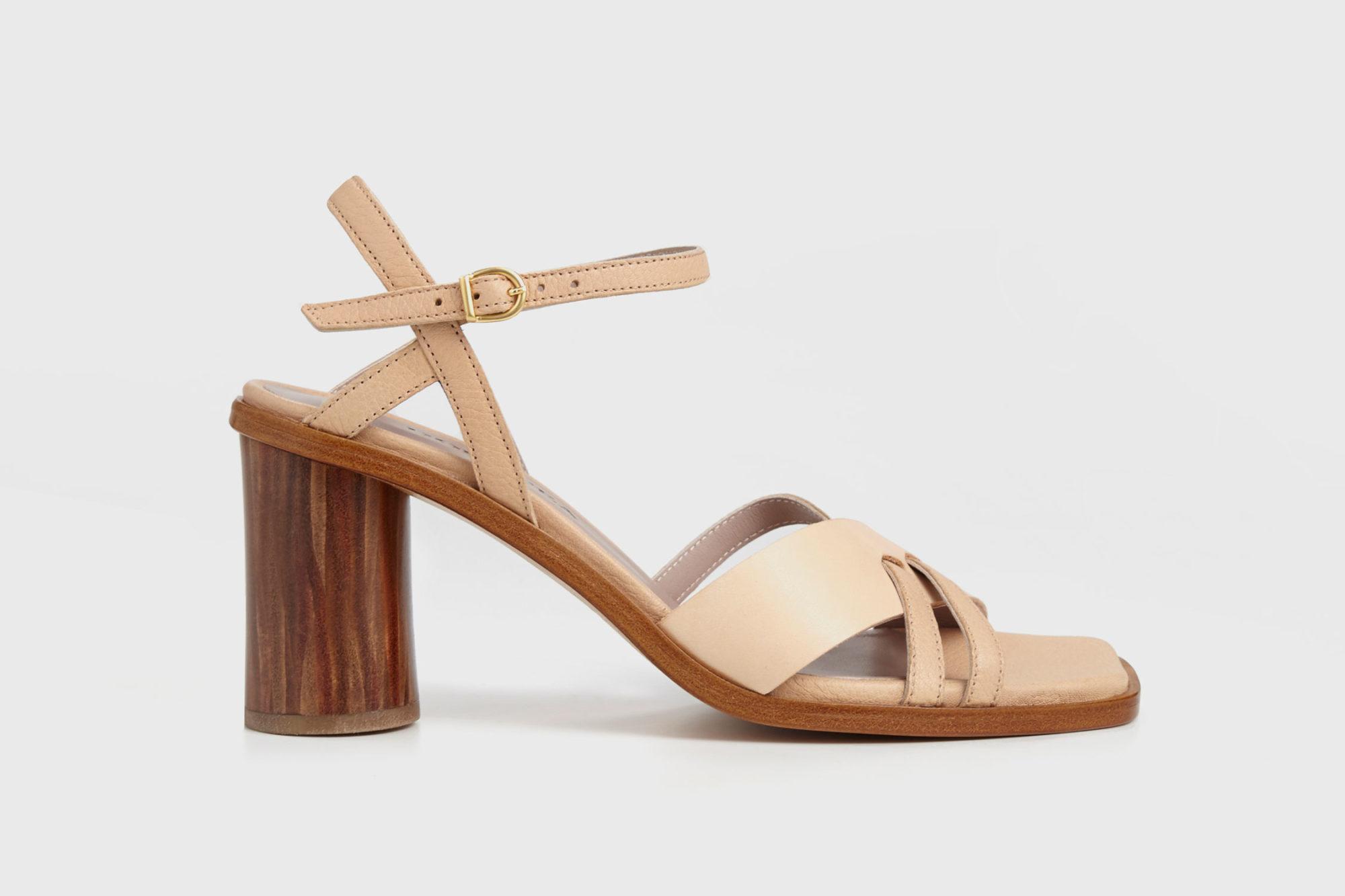 Dorotea sandalia de tacón alto Sophie nude ss17 perfil