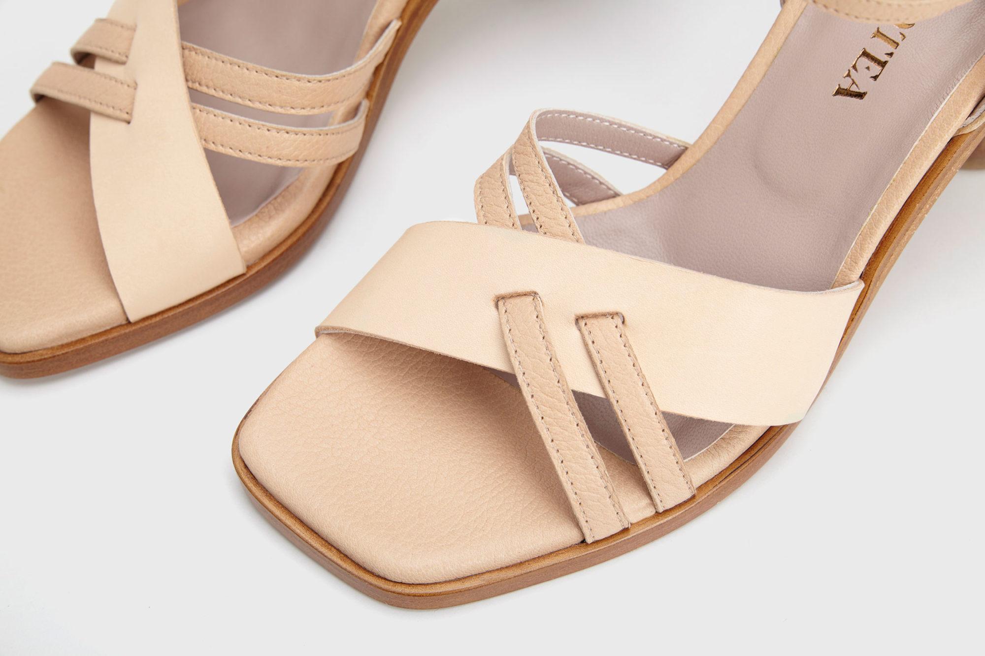 Dorotea sandalia de tacón alto Sophie nude ss17 detalle