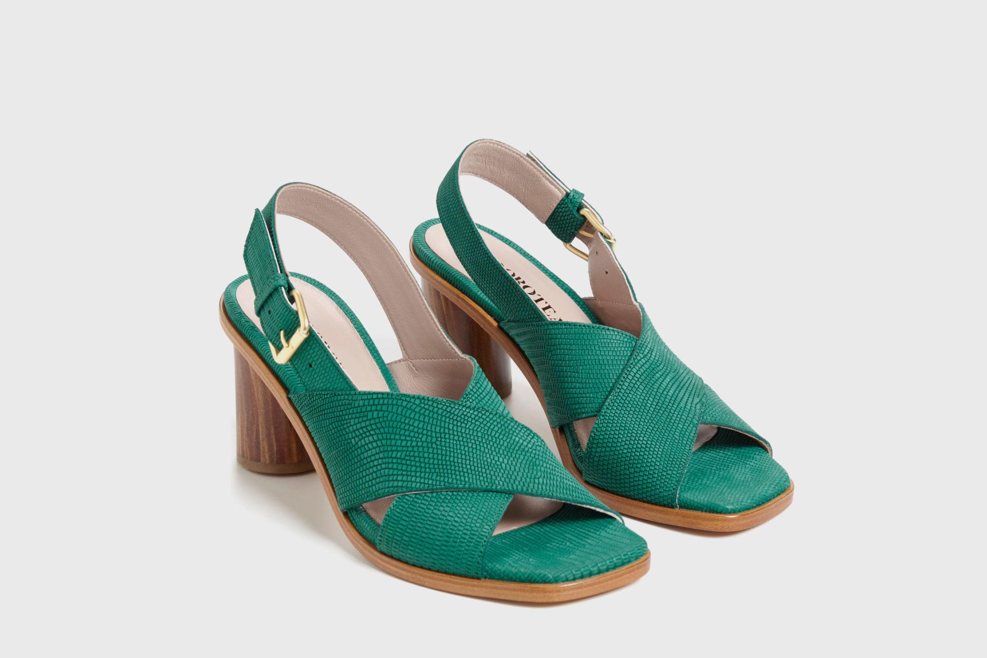 Dorotea sandalia de tacón alto Jazz verde ss17 par