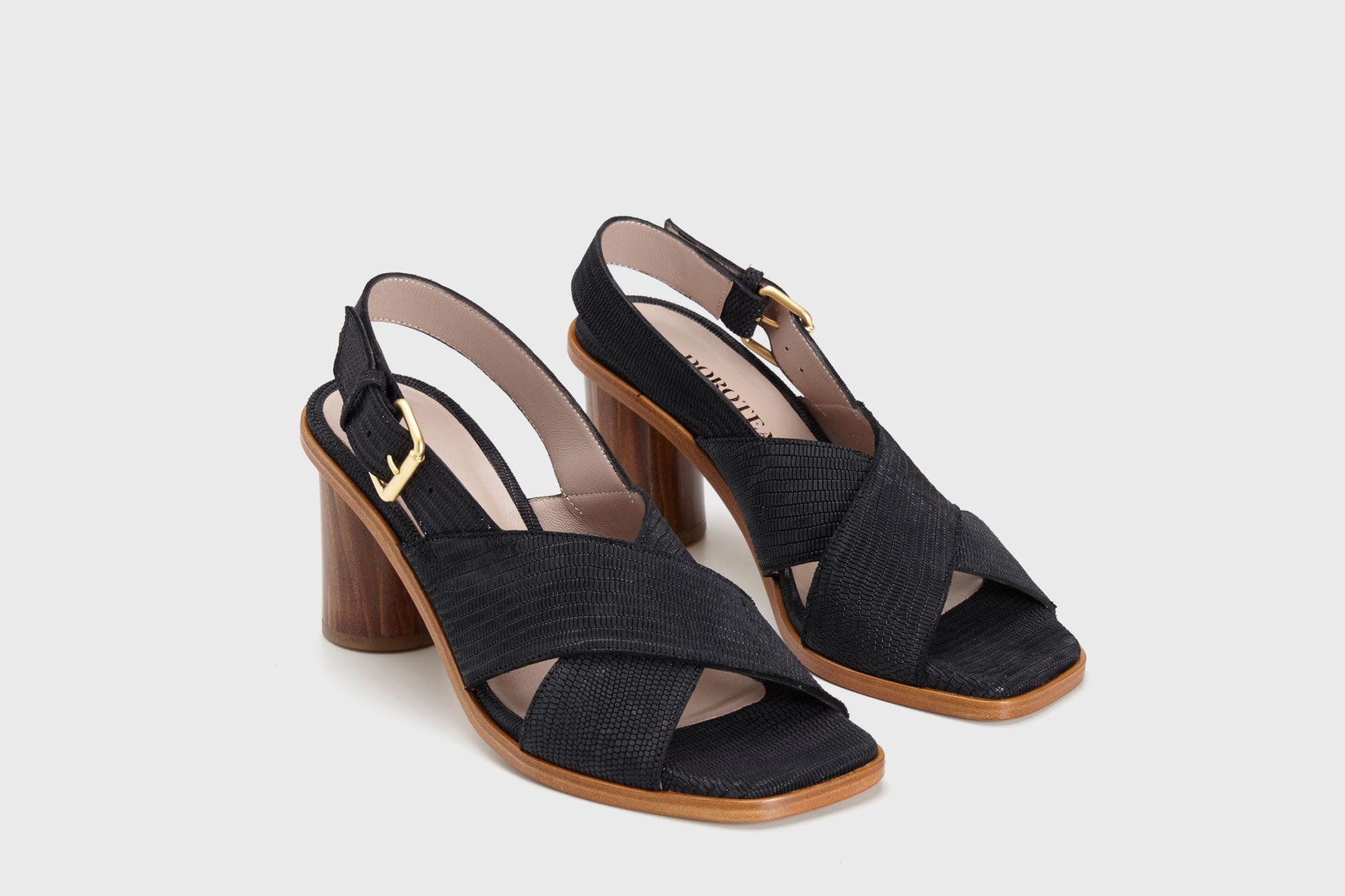 Dorotea sandalia de tacón alto jazz negra ss17 par
