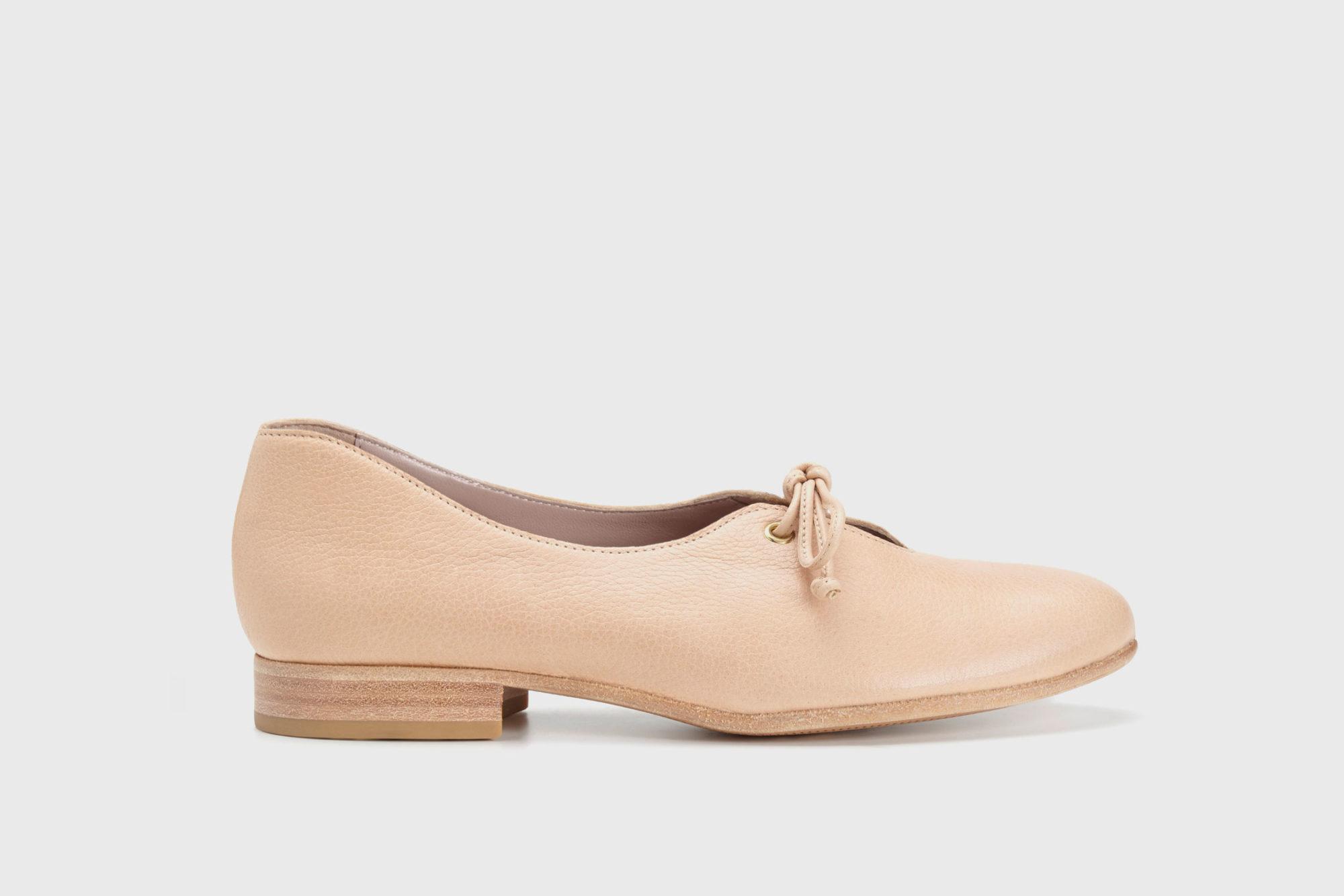 Dorotea zapato de cordones Carrie nude ss17 perfil
