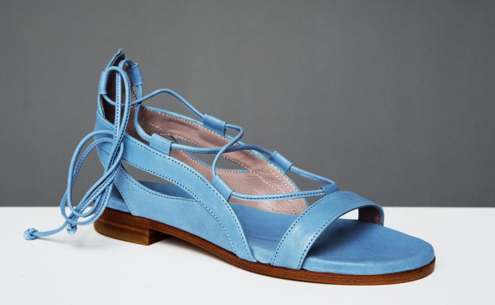 Dorotea sandalia plana Alia azul jeans ss17