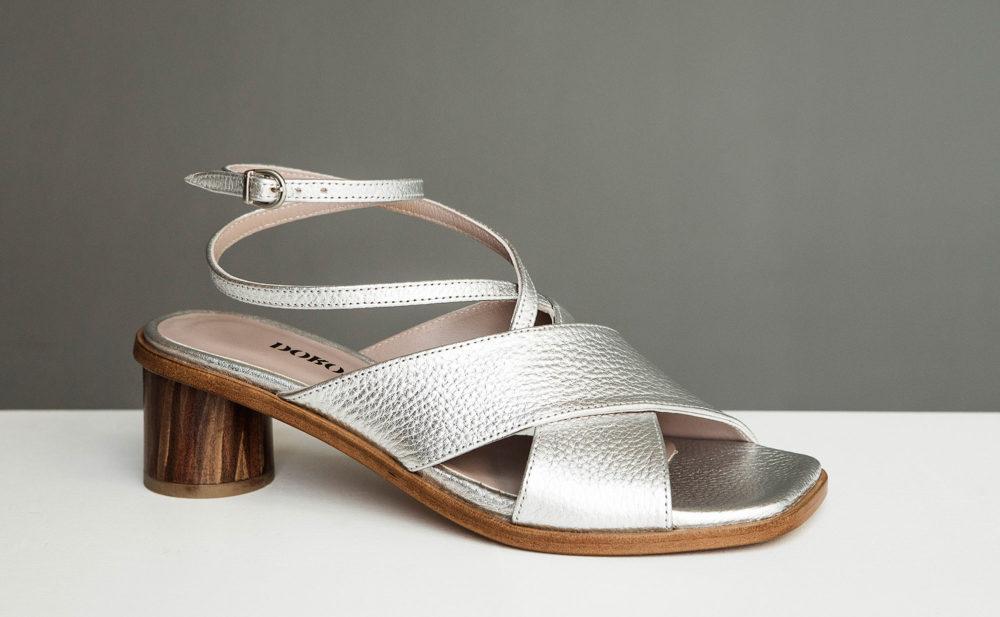Sandalia de tacón medio Daphne ss17