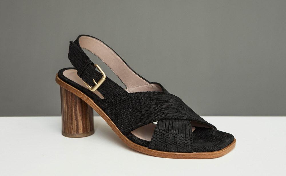 Dorotea sandalia de tacón alto jazz negra ss17