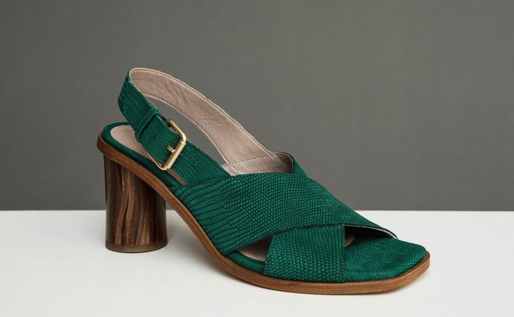Dorotea sandalia de tacón alto Jazz verde ss17