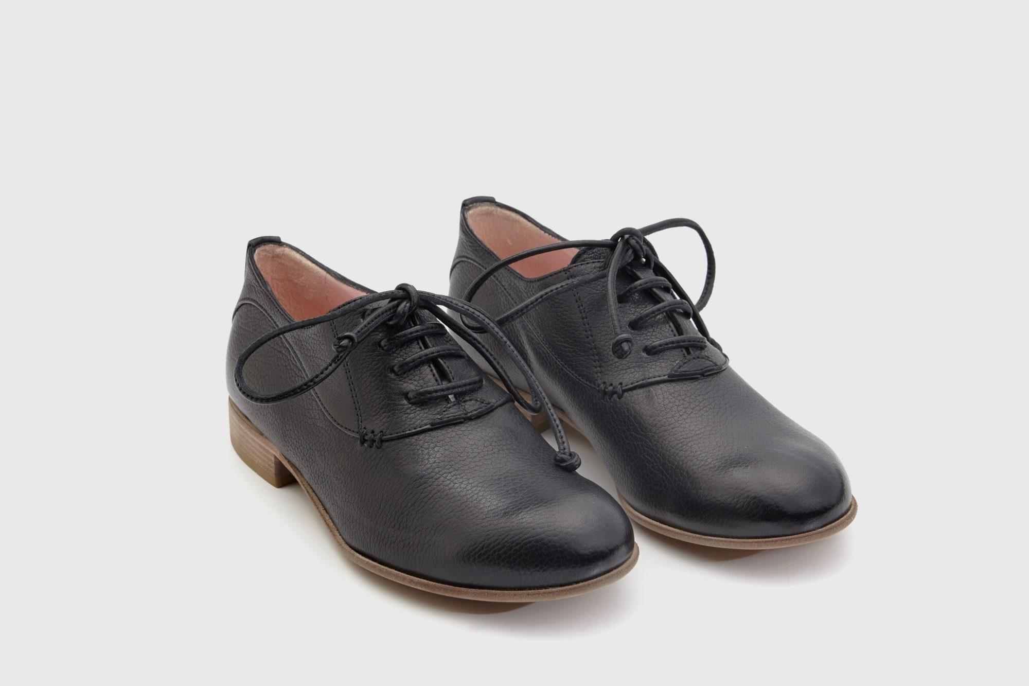 Dorotea zapato cordones Florence negro ss17