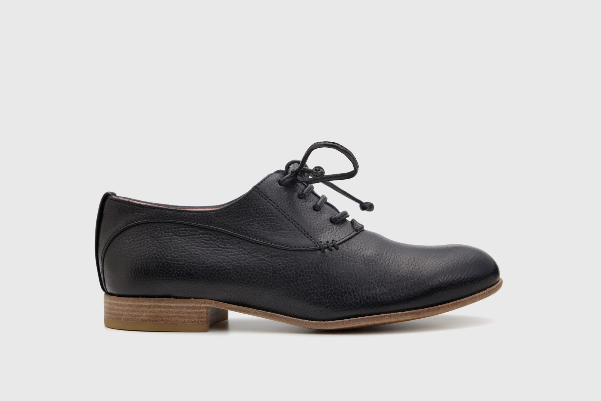 Dorotea zapato cordones Florence negro ss17 perfil