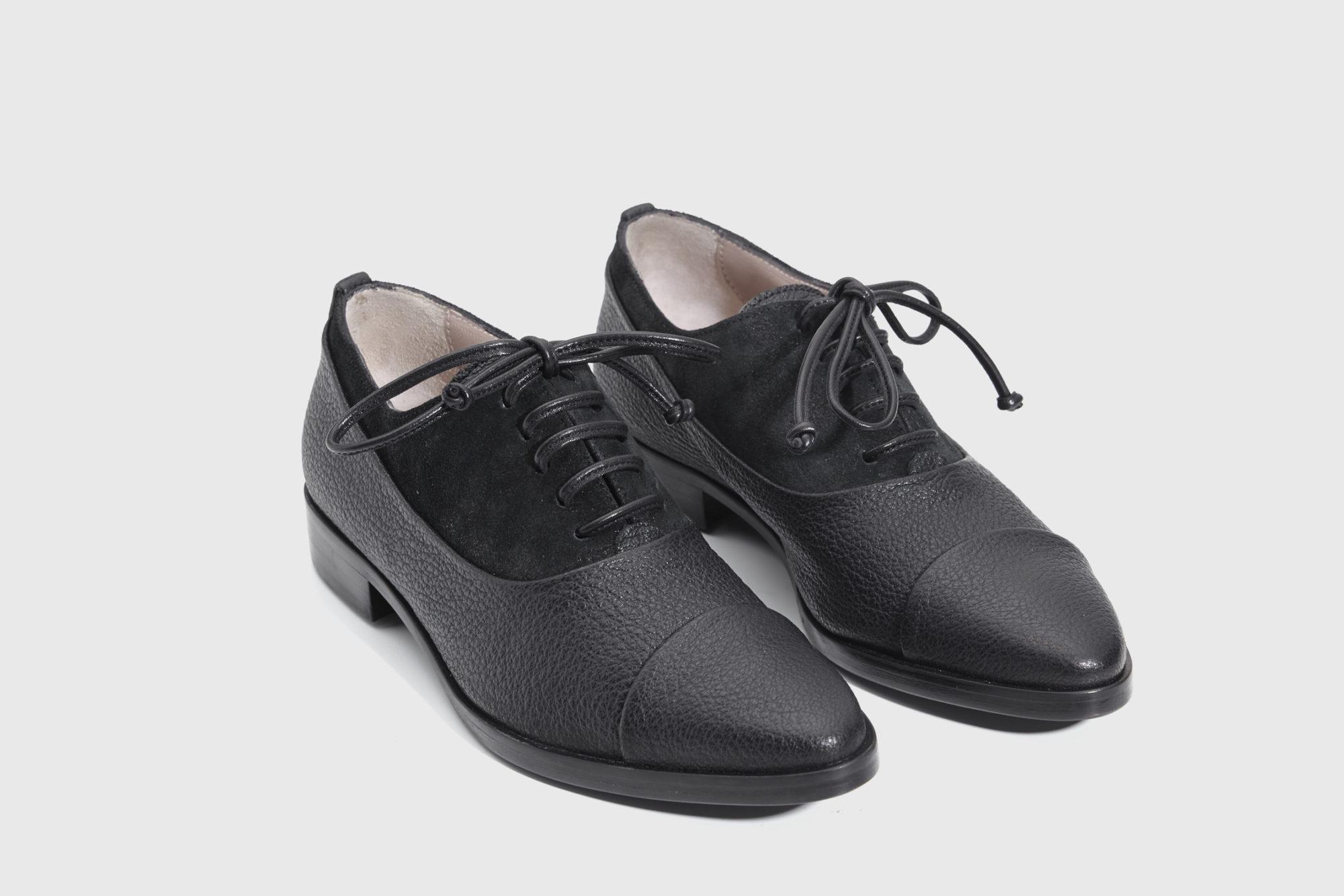 Dorotea zapato de cordones Billie negro fw17 par