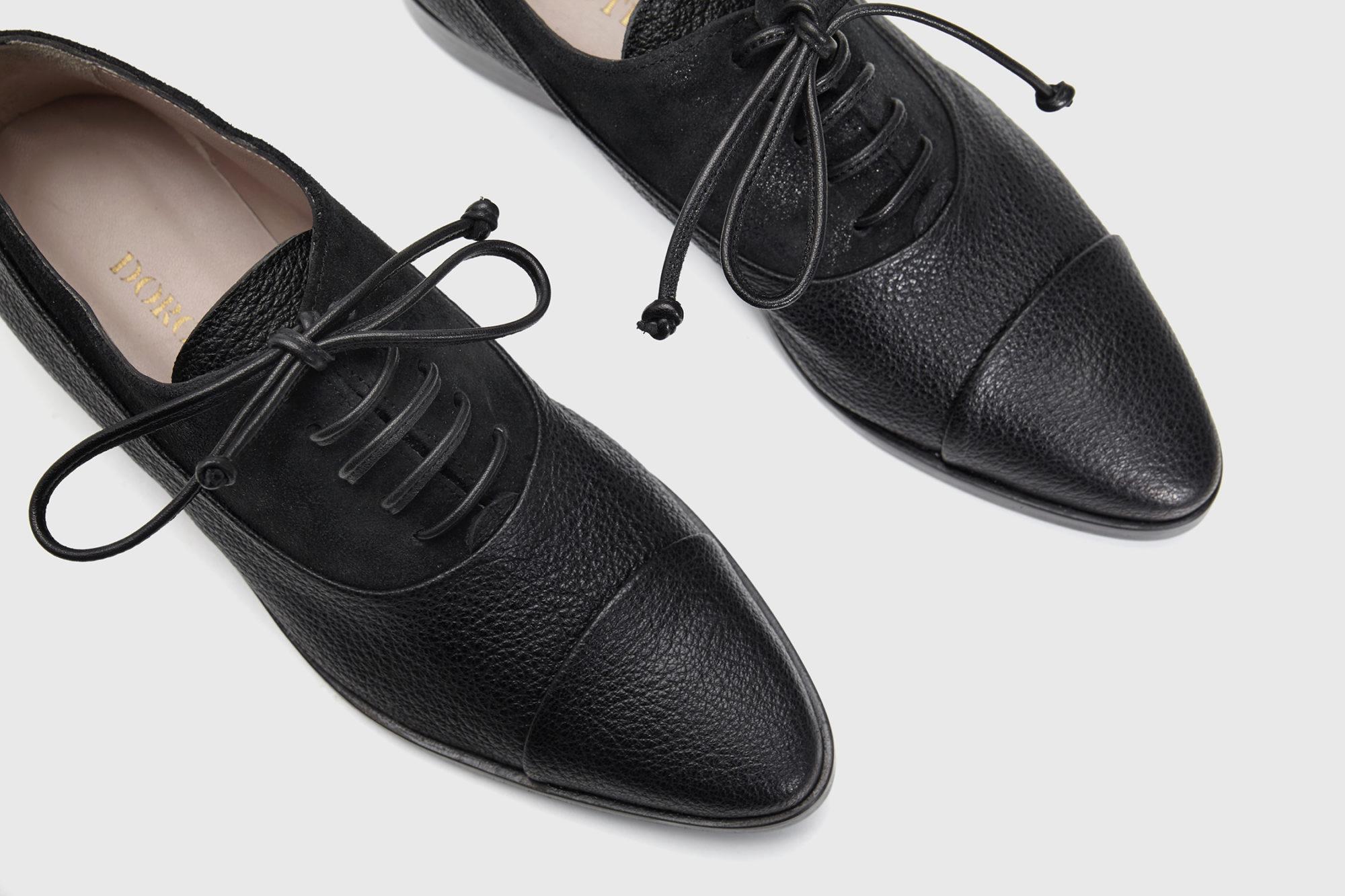 Dorotea Dorotea zapato de cordones Billie negro fw17 detalle