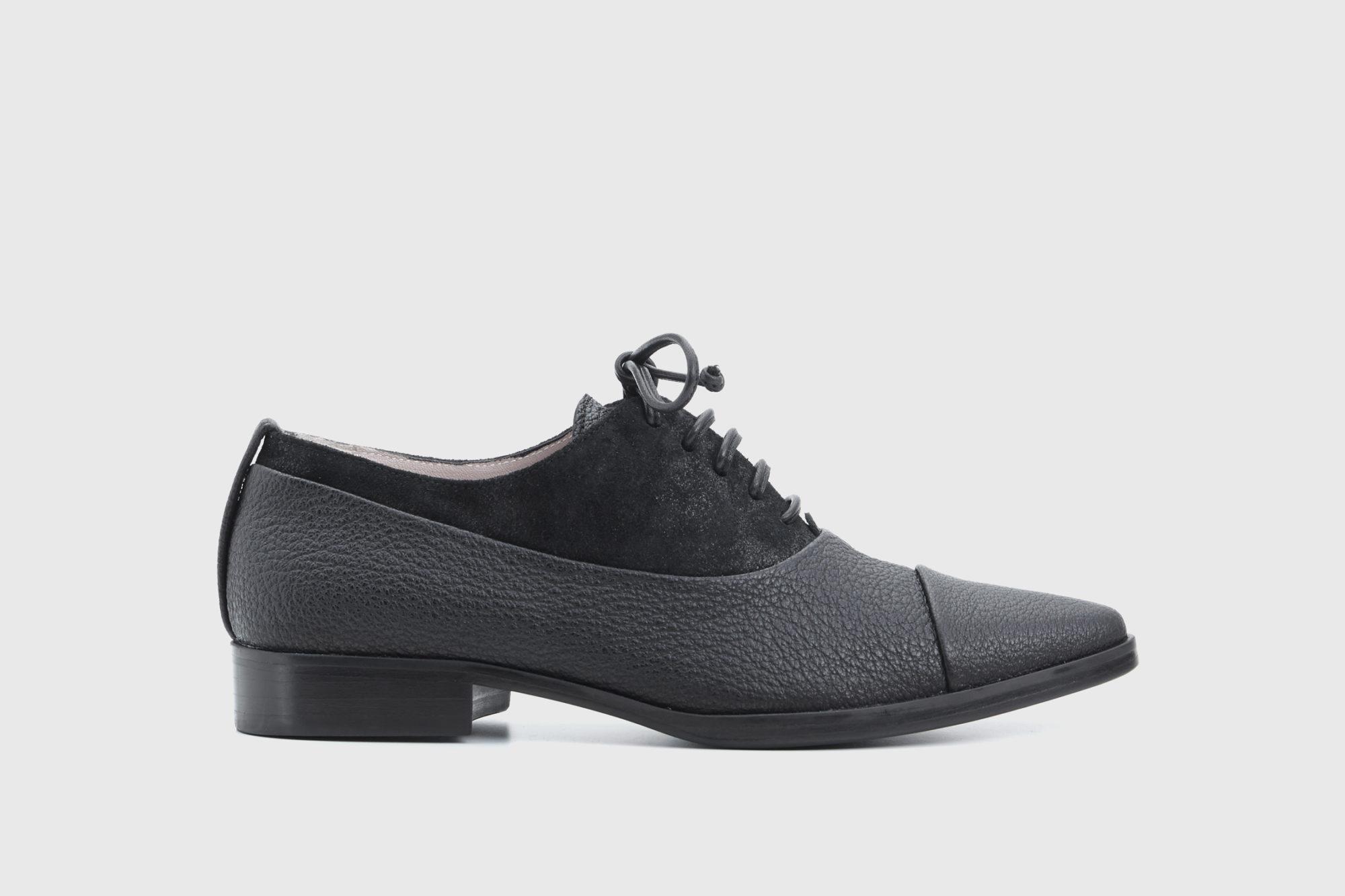 Dorotea zapato de cordones Billie negro fw18 perfil