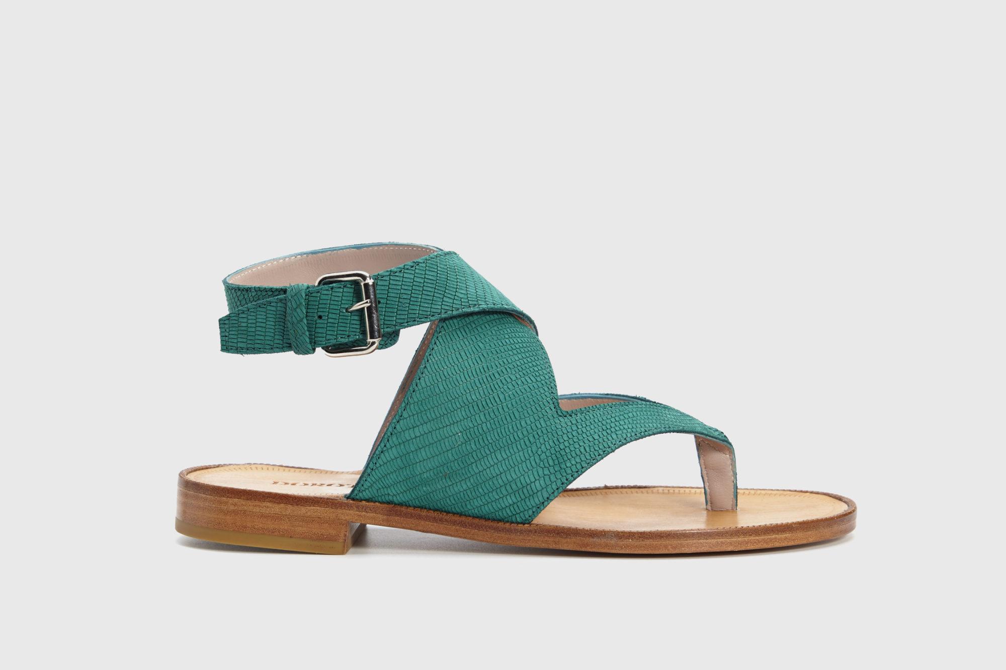 Dorotea sandalia plana Martina verde ss18 perfil