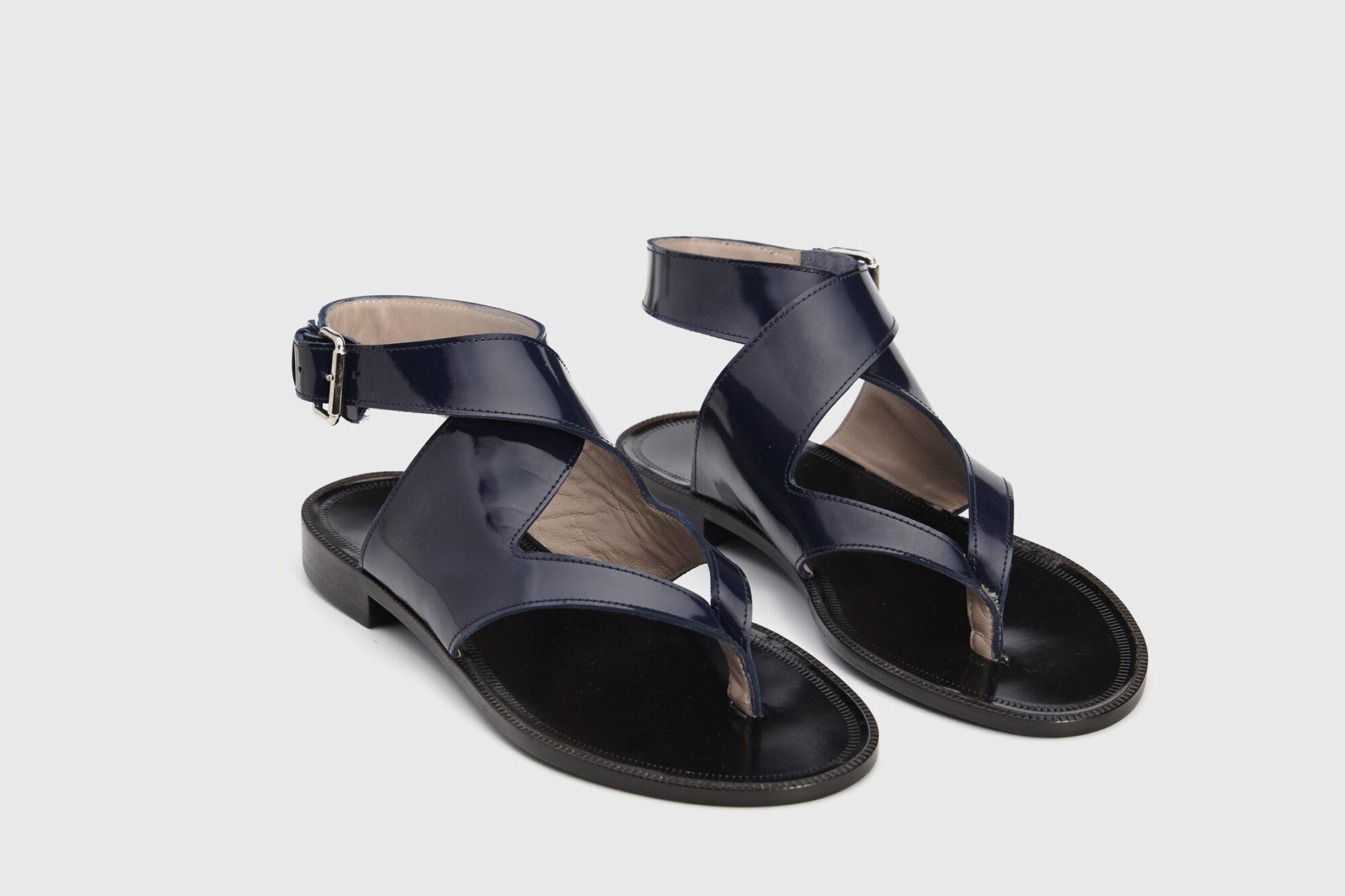 Dorotea sandalia plana Martina azul marino ss18 par