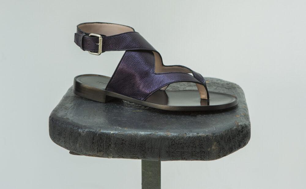 Dorotea sandalia plana Martina azul tinta ss18 perfil
