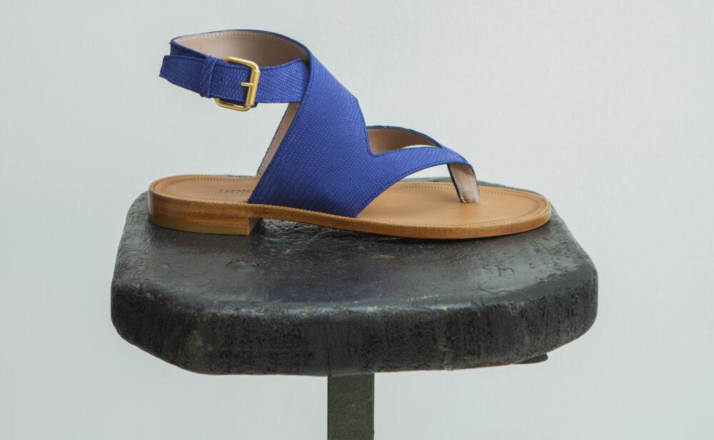 Dorotea sandalia plana Martina azul klein ss18 perfil