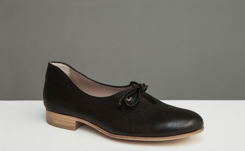 Dorotea zapato de cordones Carrie negro ss17