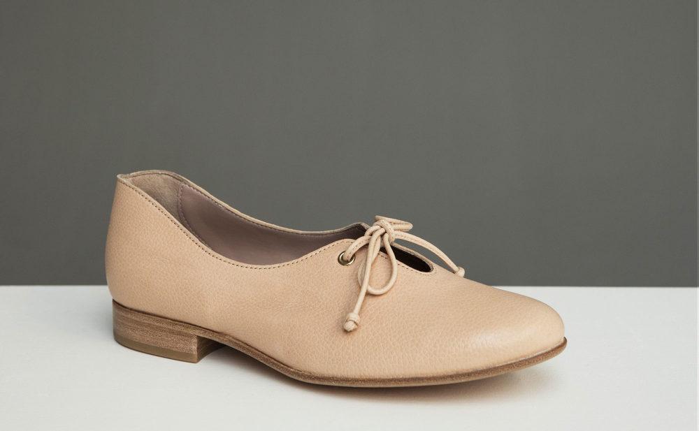 Dorotea zapato de cordones Carrie nude ss17