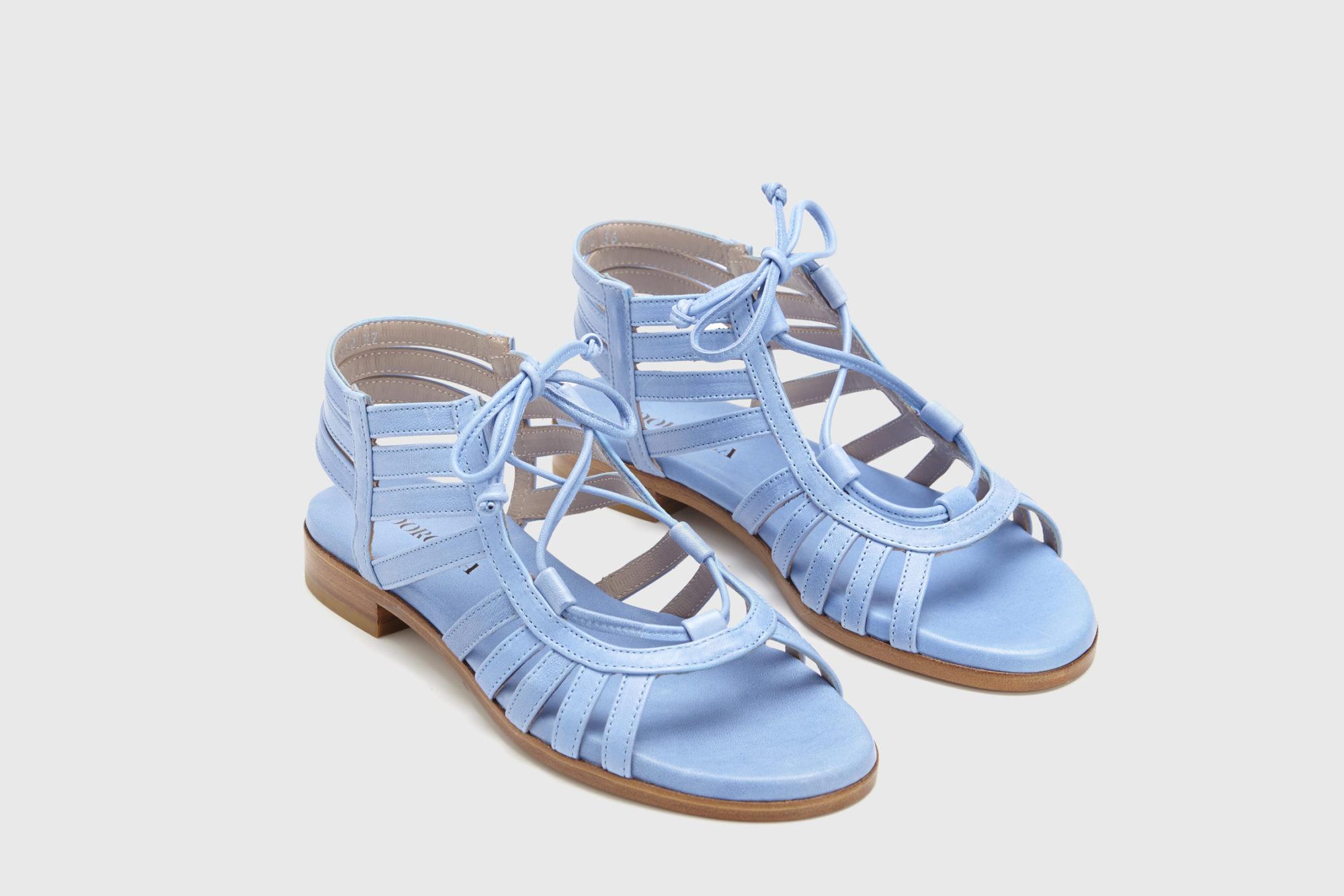 Dorotea sandalia plana Margot azul ss17