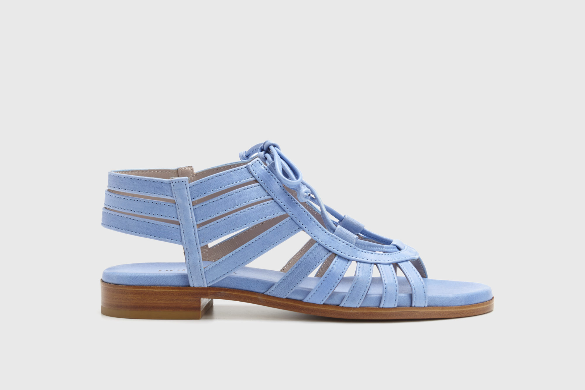 Dorotea sandalia plana Margot azul ss17 perfil