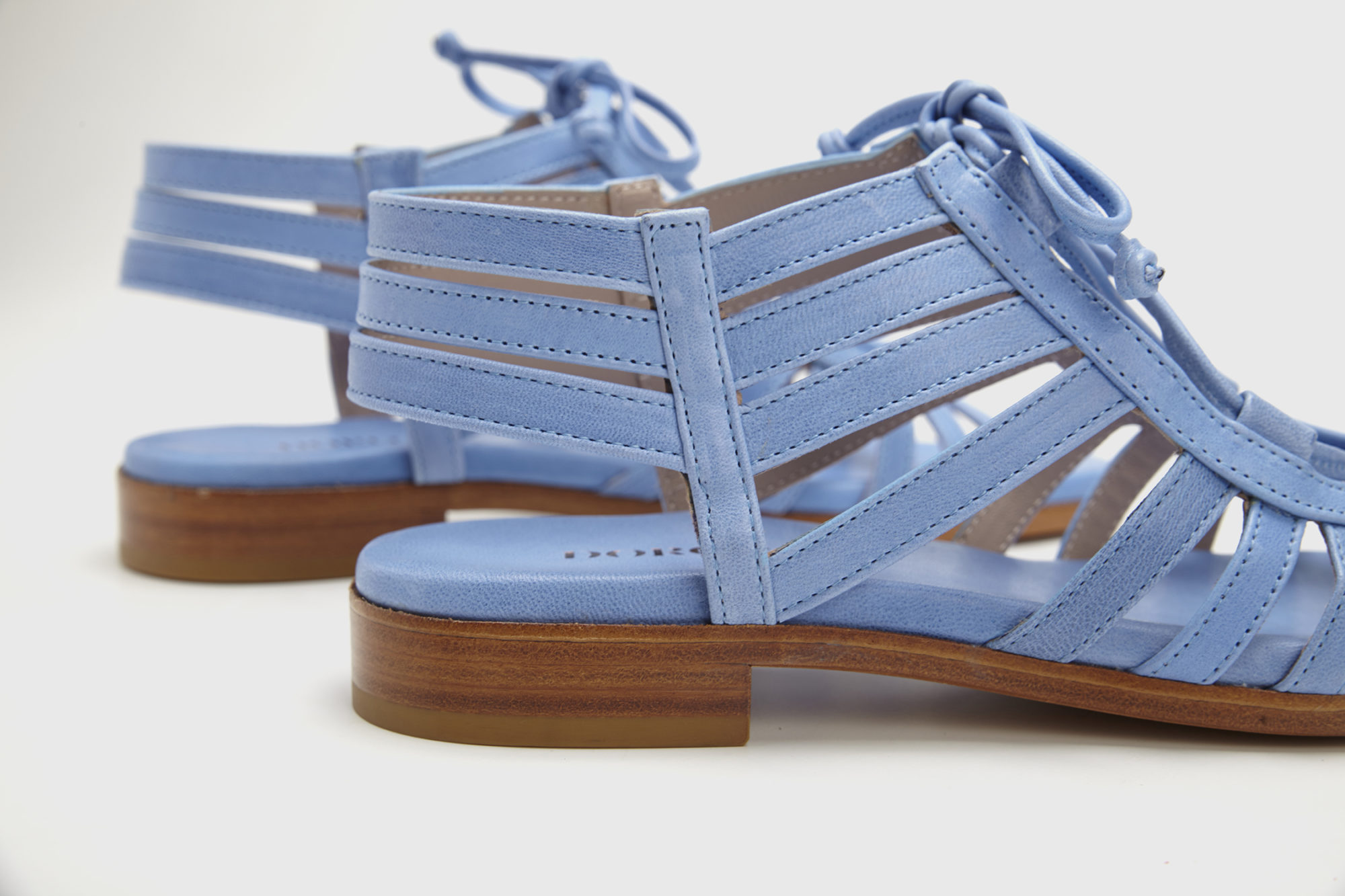 Dorotea sandalia plana Margot azul ss17 detalle