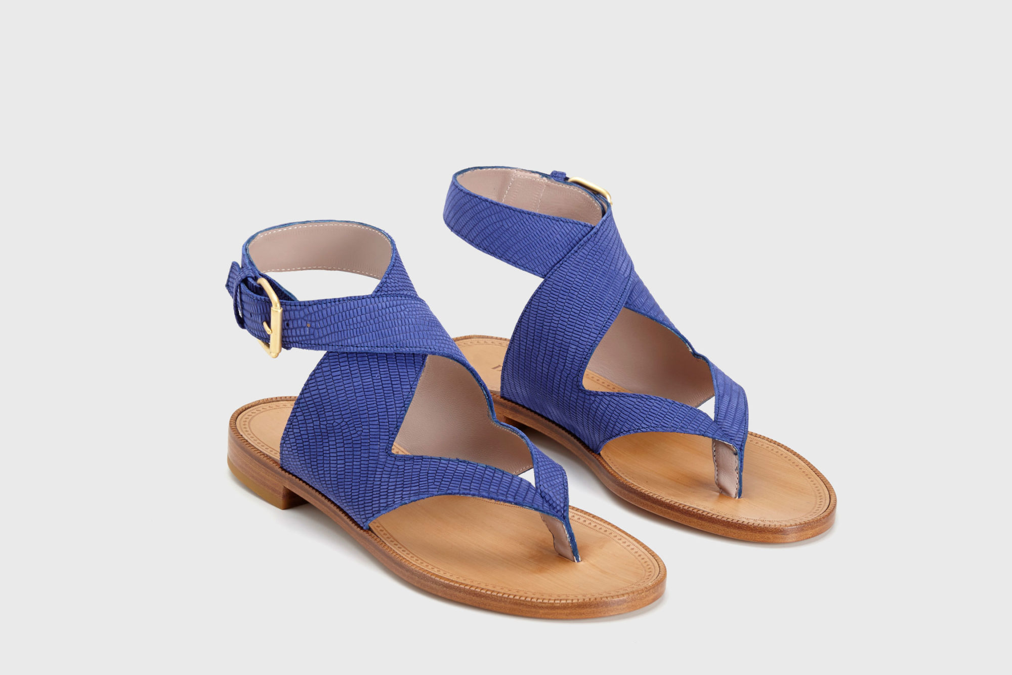 Dorotea sandalia plana Martina azul klein ss17 par