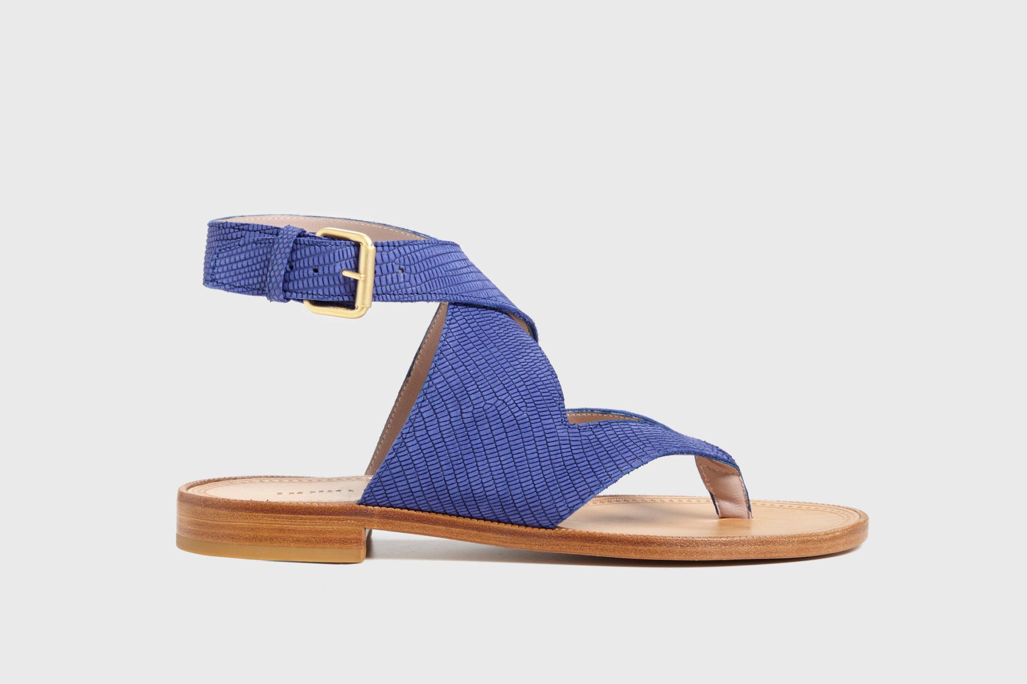 Dorotea sandalia plana Martina azul klein ss17 perfil