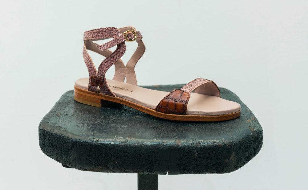Dorotea sandalia plana Maya rosa ss18