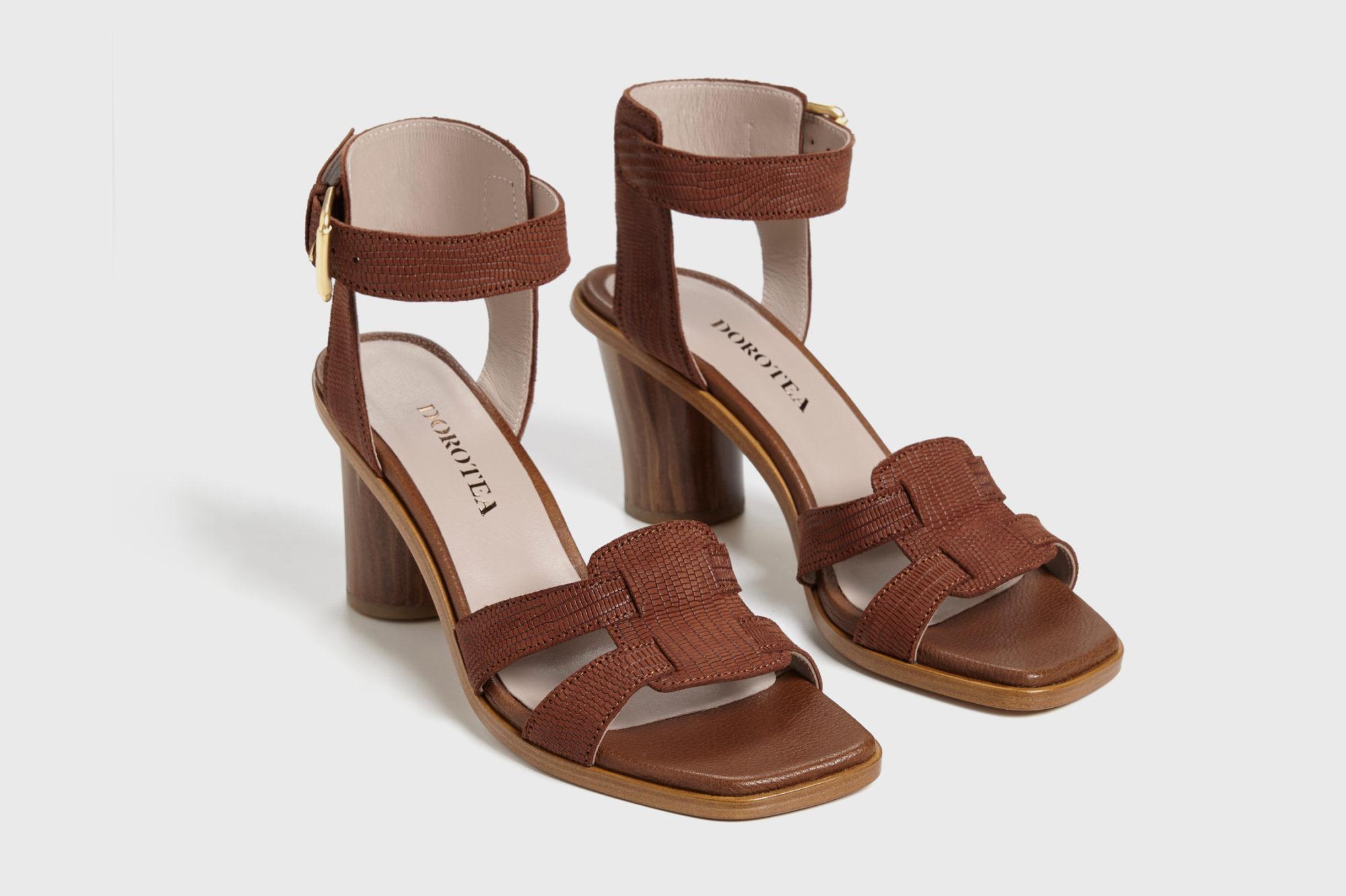 Dorotea sandalia de tacón alto Lianne marrón ss17 par