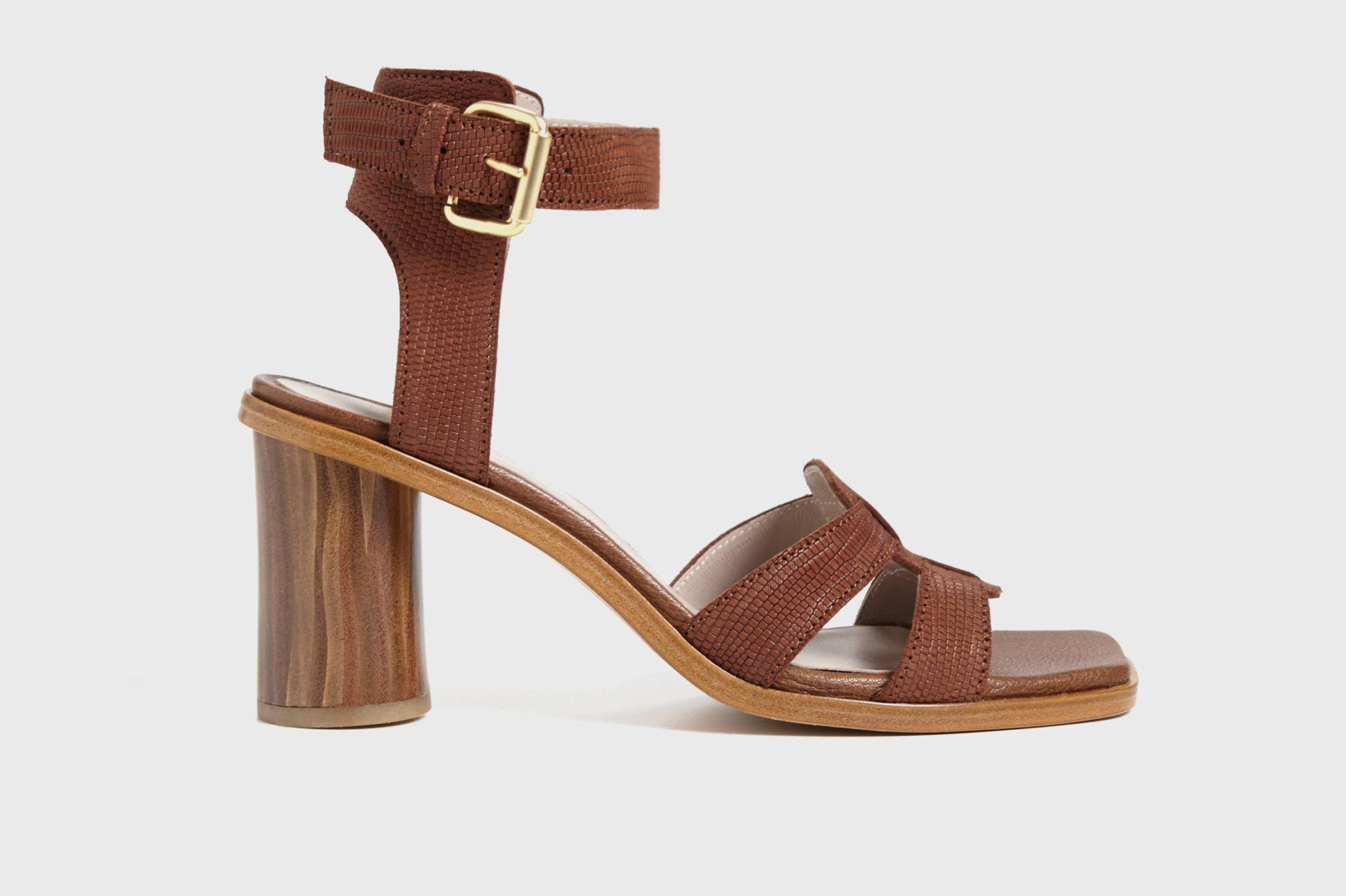 Dorotea sandalia de tacón alto Lianne marrón ss17 perfil