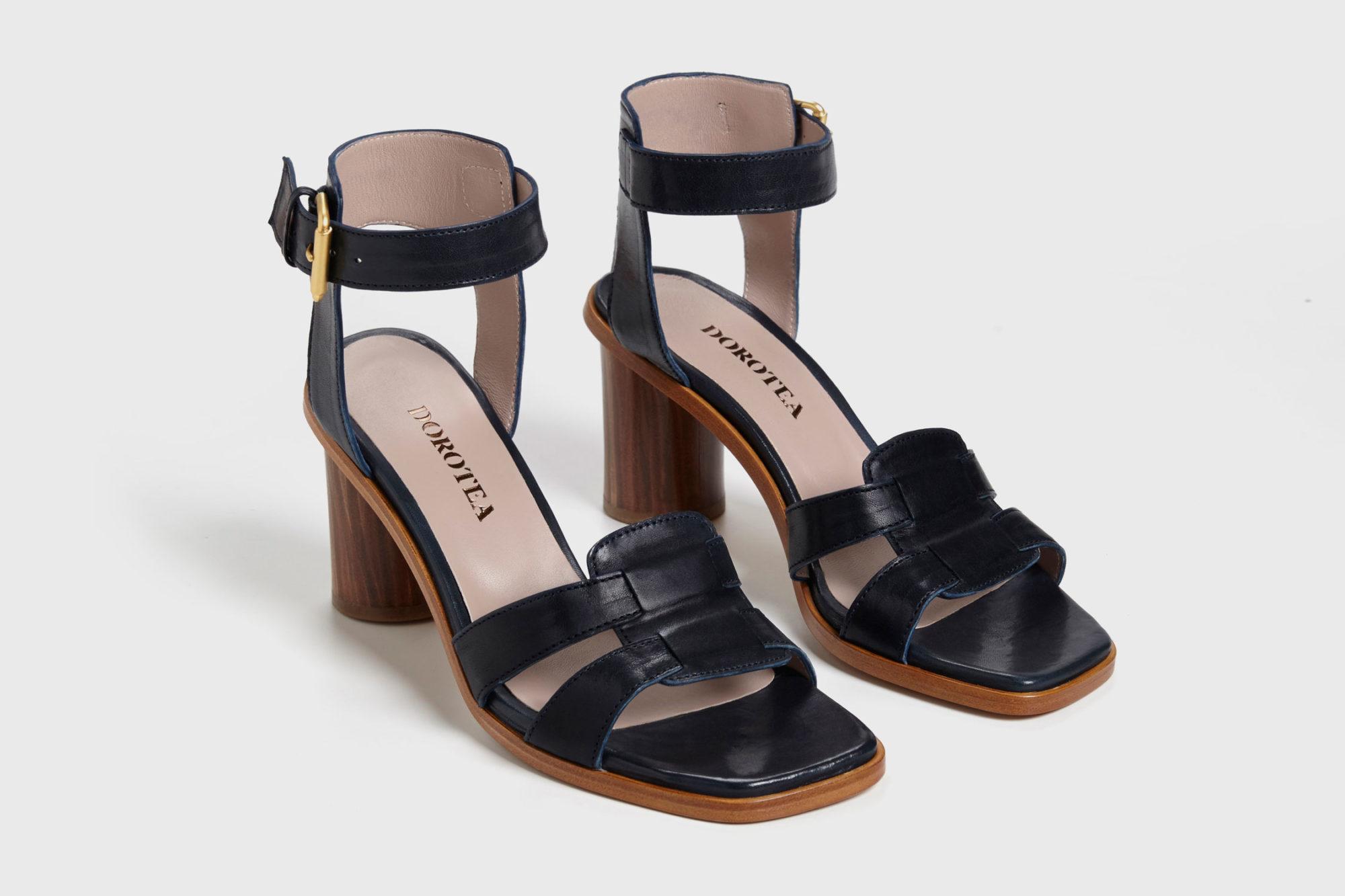 Dorotea sandalia de tacón alto Lianne azul marino ss17 par