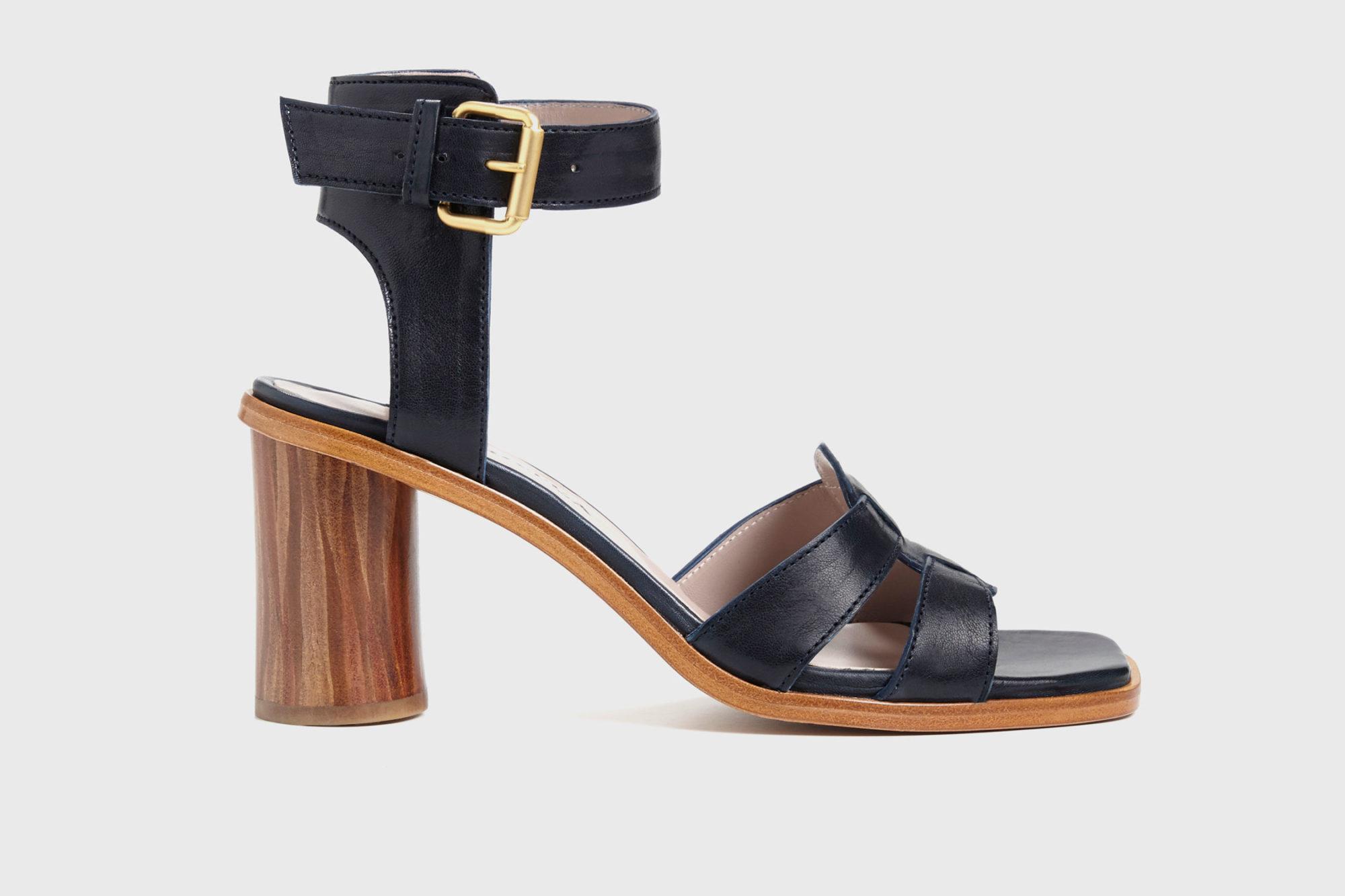 Dorotea sandalia de tacón alto Lianne azul marino ss17 perfil