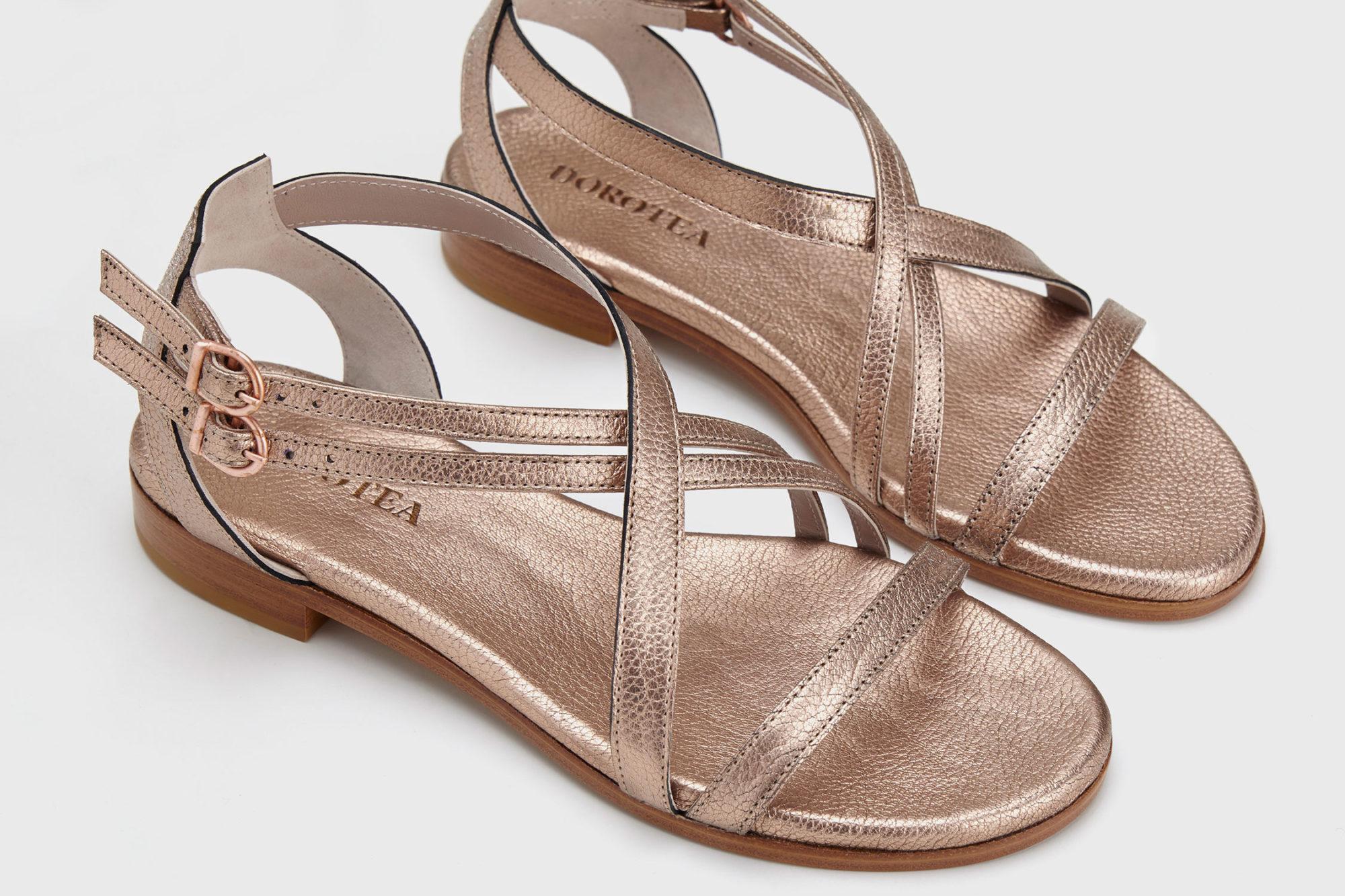 Dorotea sandalia plana charlotte muse canela ss17 detalle