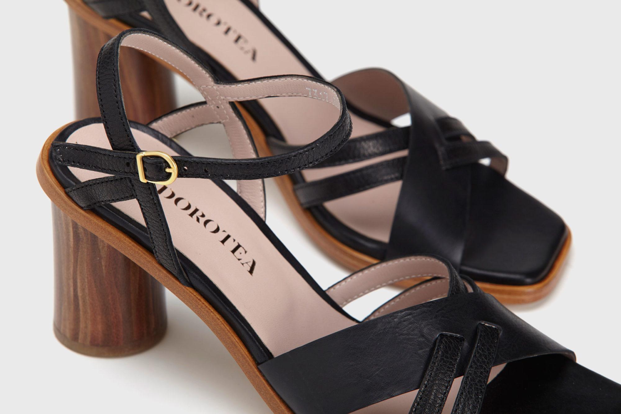 Dorotea sandalia de tacón alto Sophie ss17 detalle