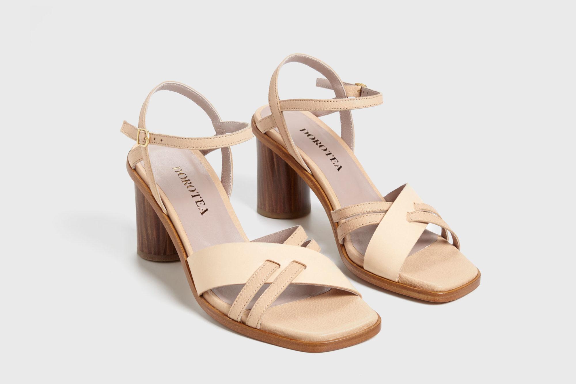 Dorotea sandalia de tacón alto Sophie nude ss17 par