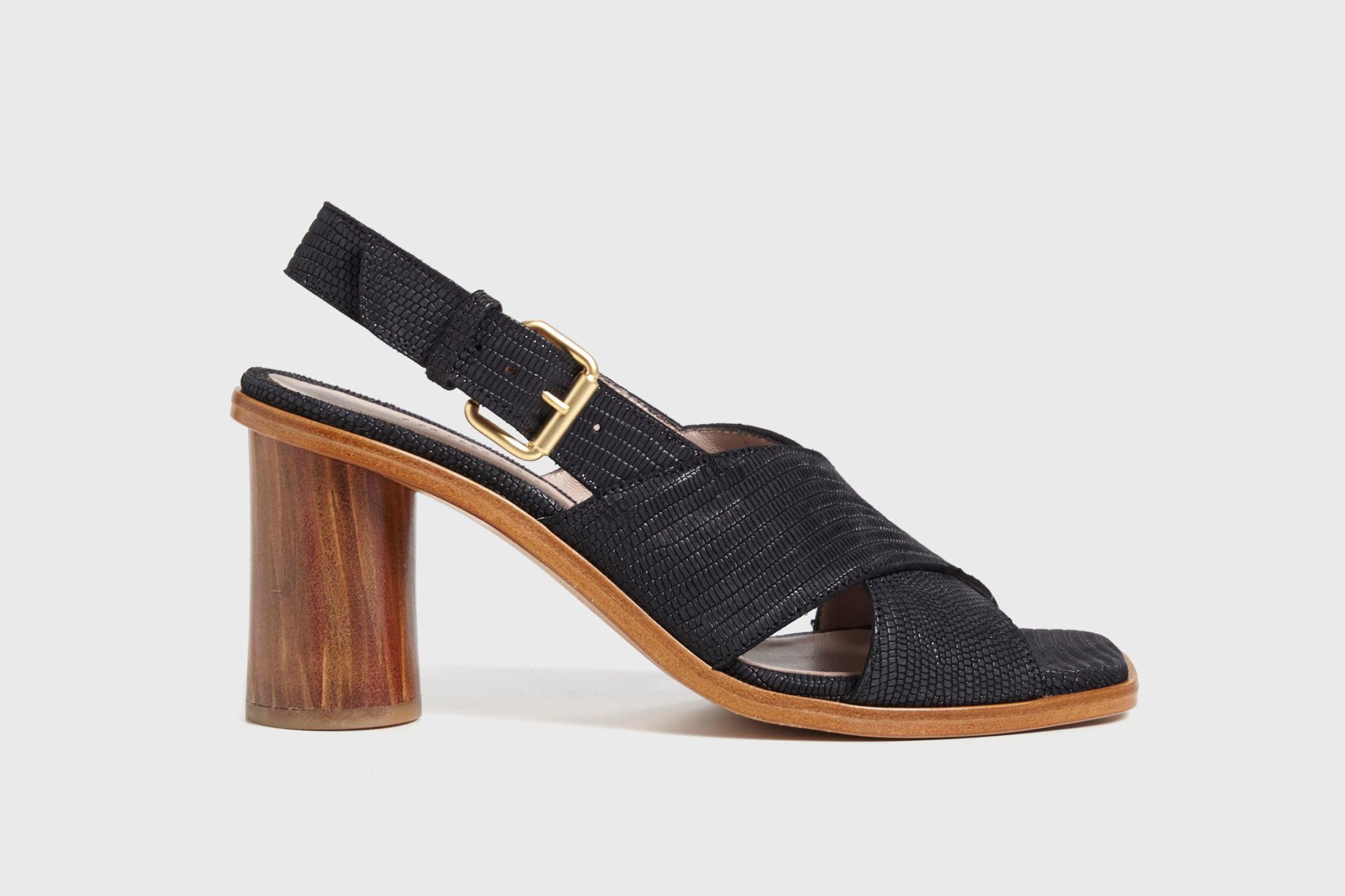 Dorotea sandalia de tacón alto jazz negra ss17 perfil