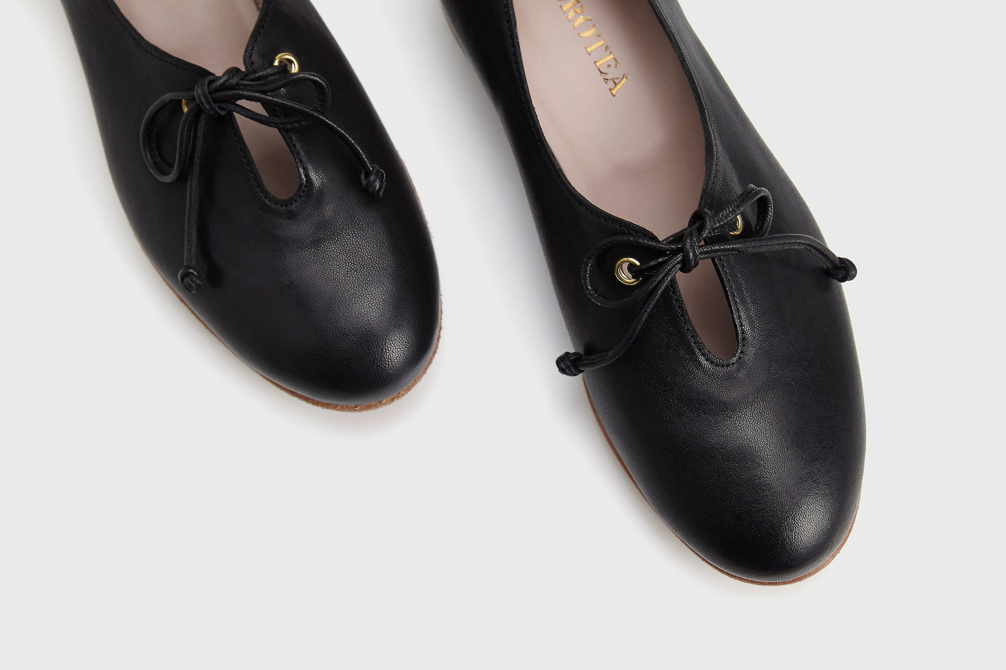 Dorotea zapato de cordones Carrie negro ss17 detalle