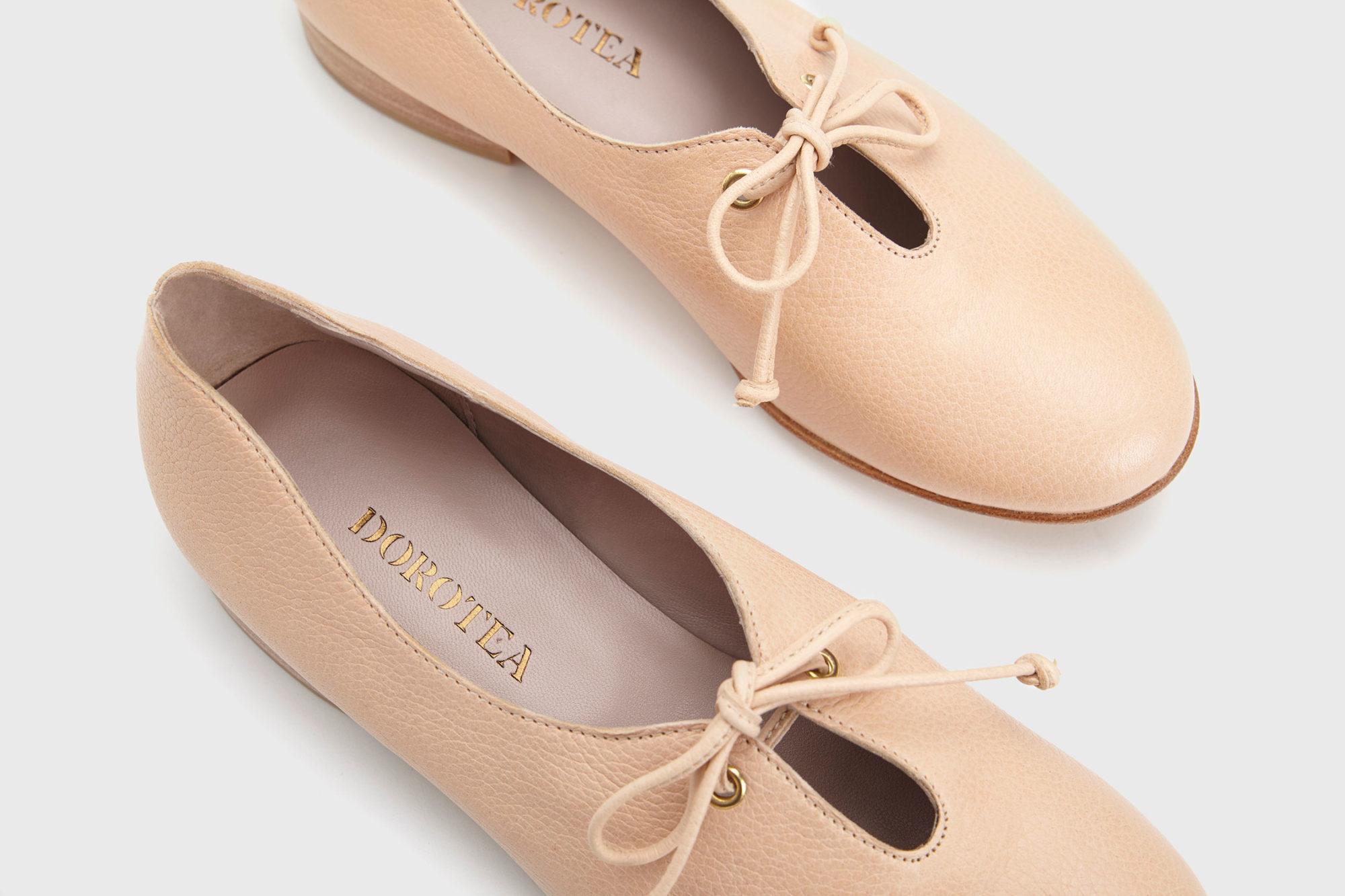 Dorotea zapato de cordones Carrie nude ss17 detalle
