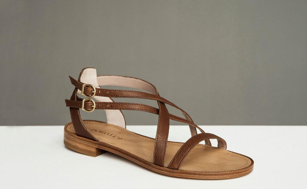 Dorotea sandalia plana Charlotte marrón ss17