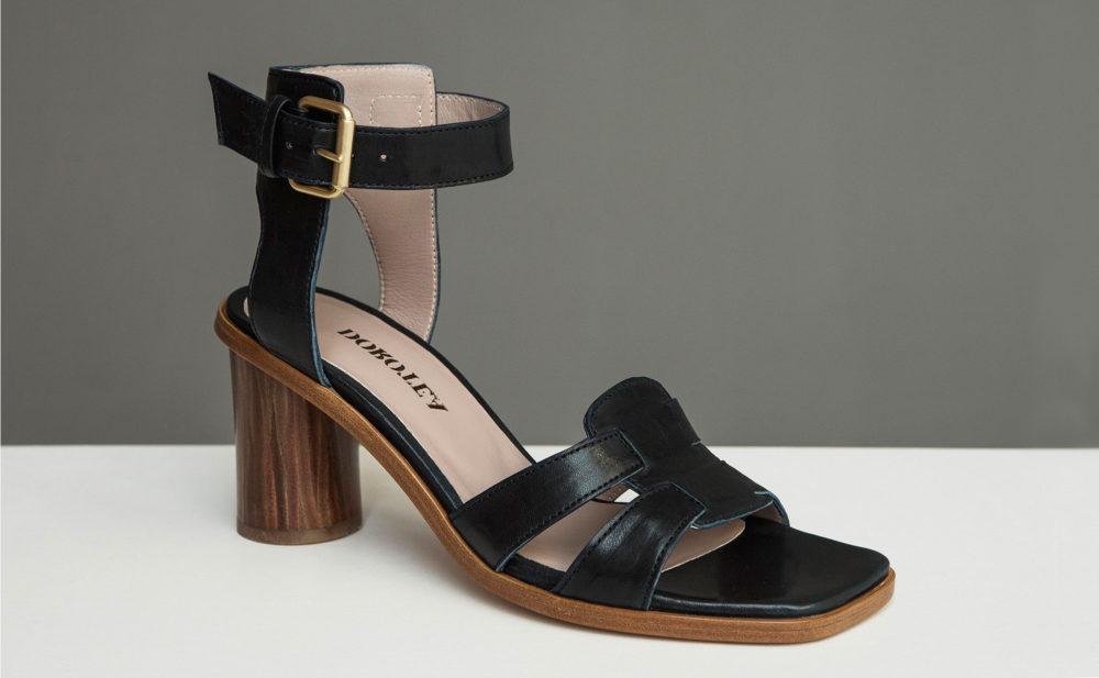 Dorotea sandalia de tacón alto Lianne azul marino ss17