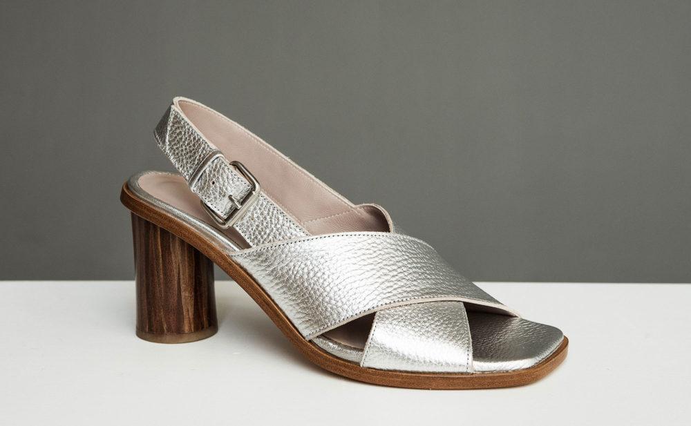 Dorotea sandalia de tacón alto Jazz plateado ss17