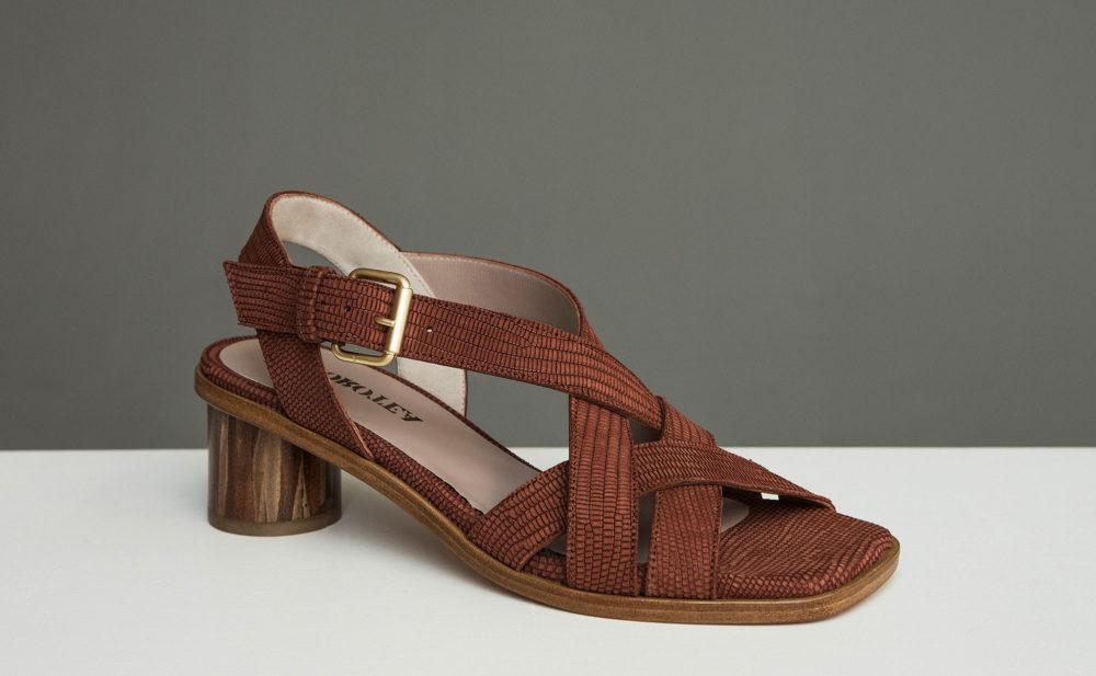 Dorotea sandalia de tacón medio Jeanne marrón ss17 2
