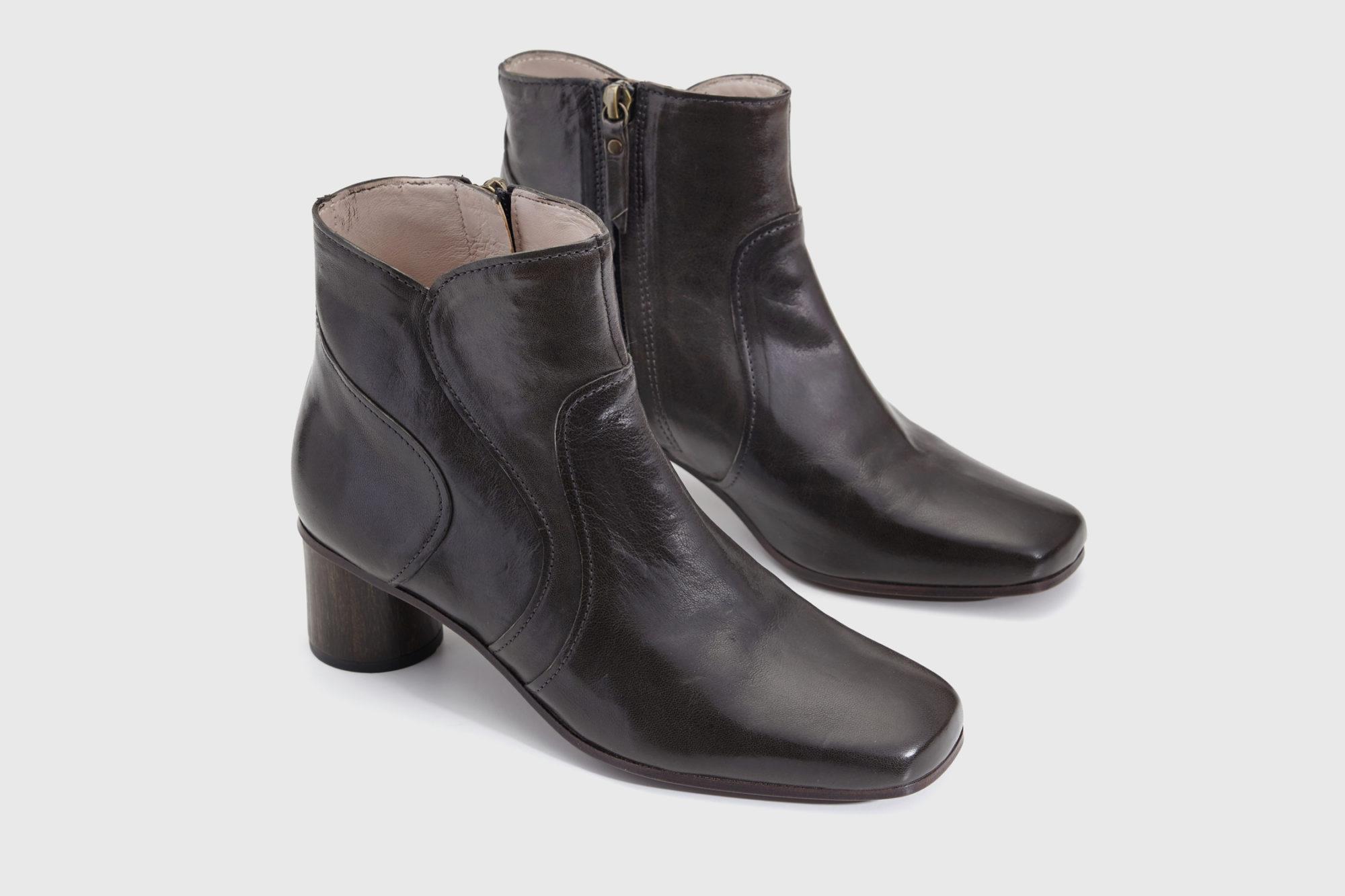 Dorotea botín de tacón medio Caroline gris ss17 par