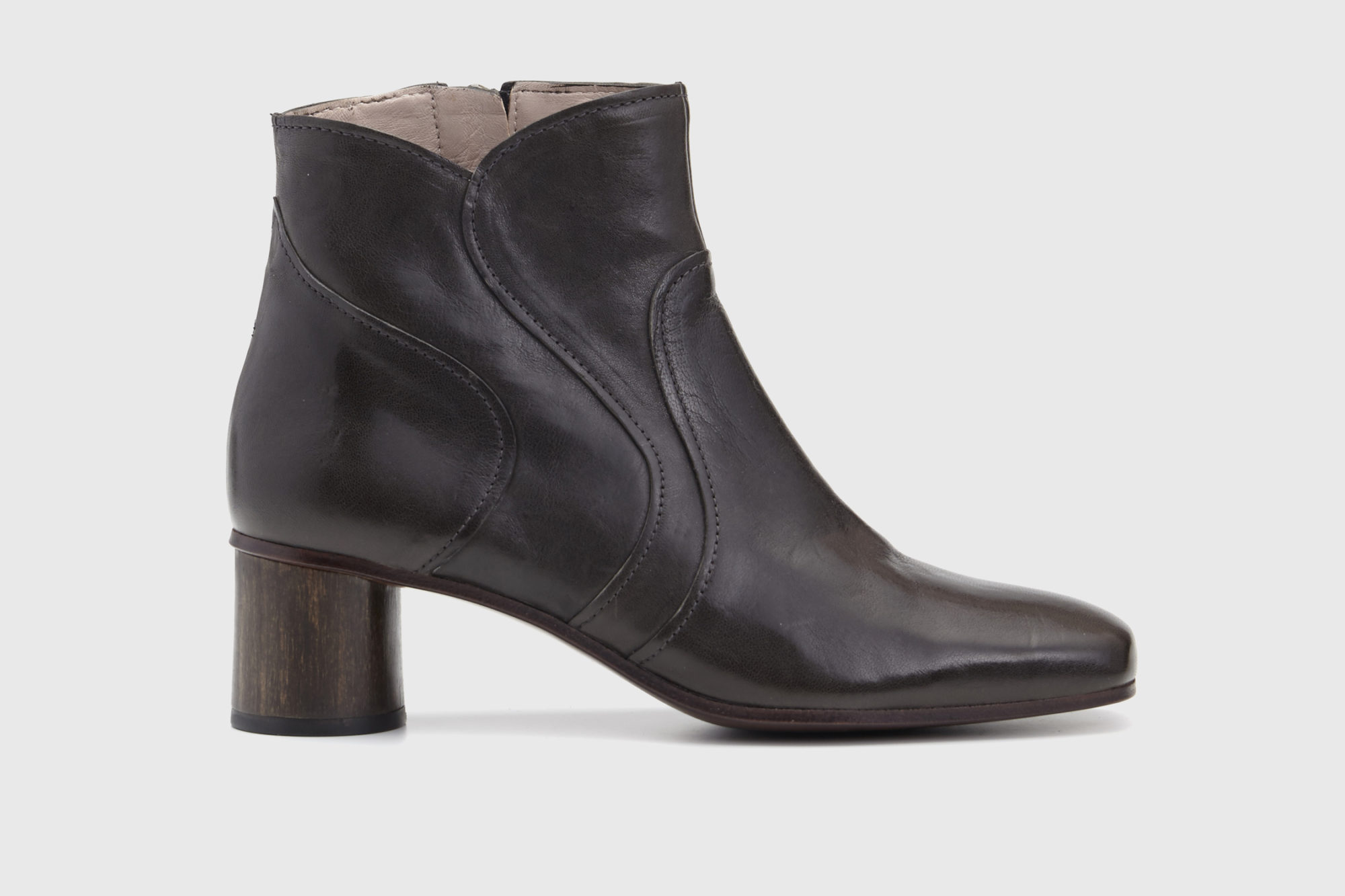 Dorotea botín de tacón medio Caroline gris ss17 perfil