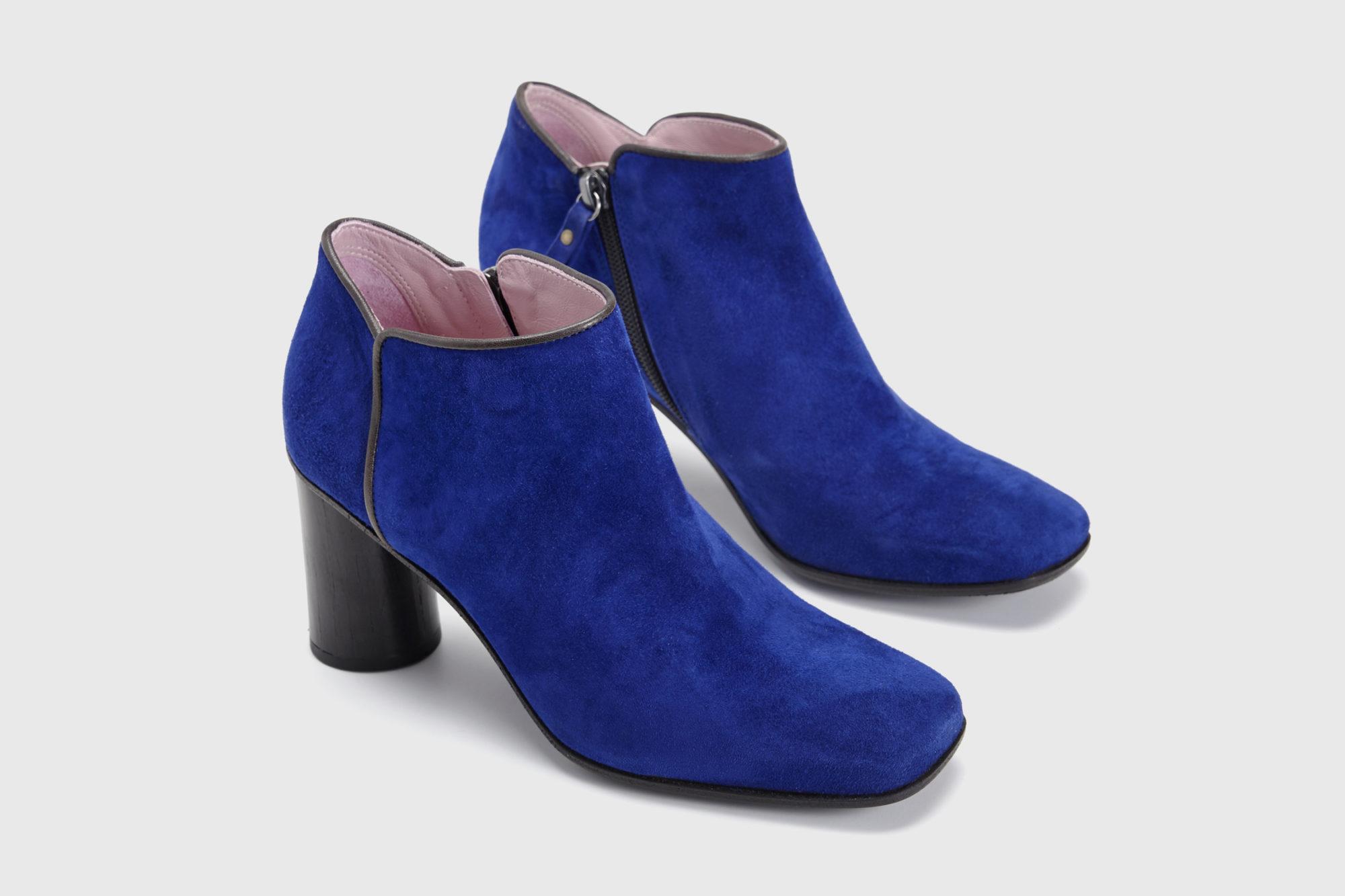 Dorotea zapato abotinado Zoe azul klein ss17 par