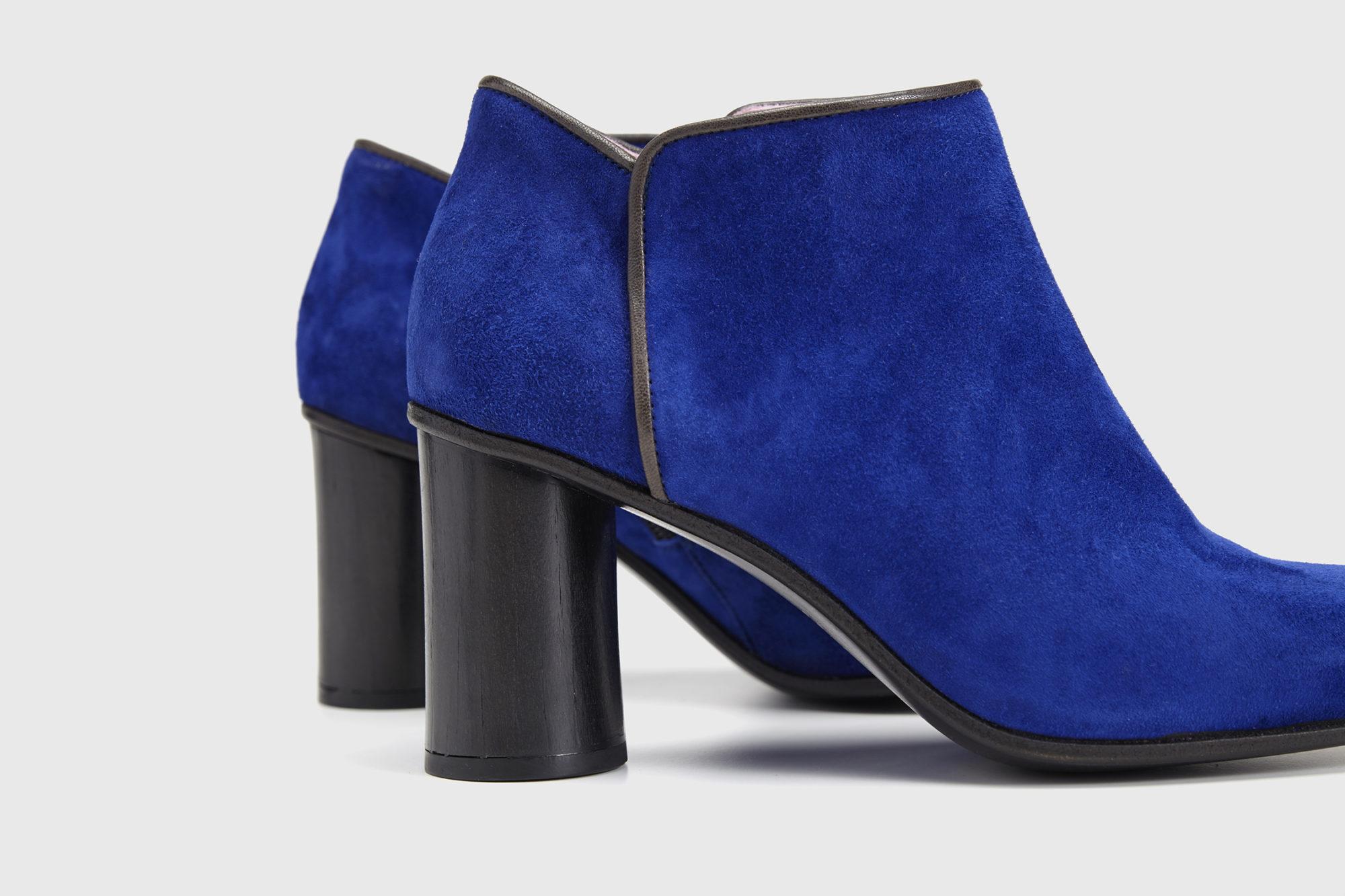 Dorotea zapato abotinado Zoe azul klein ss17 detalle